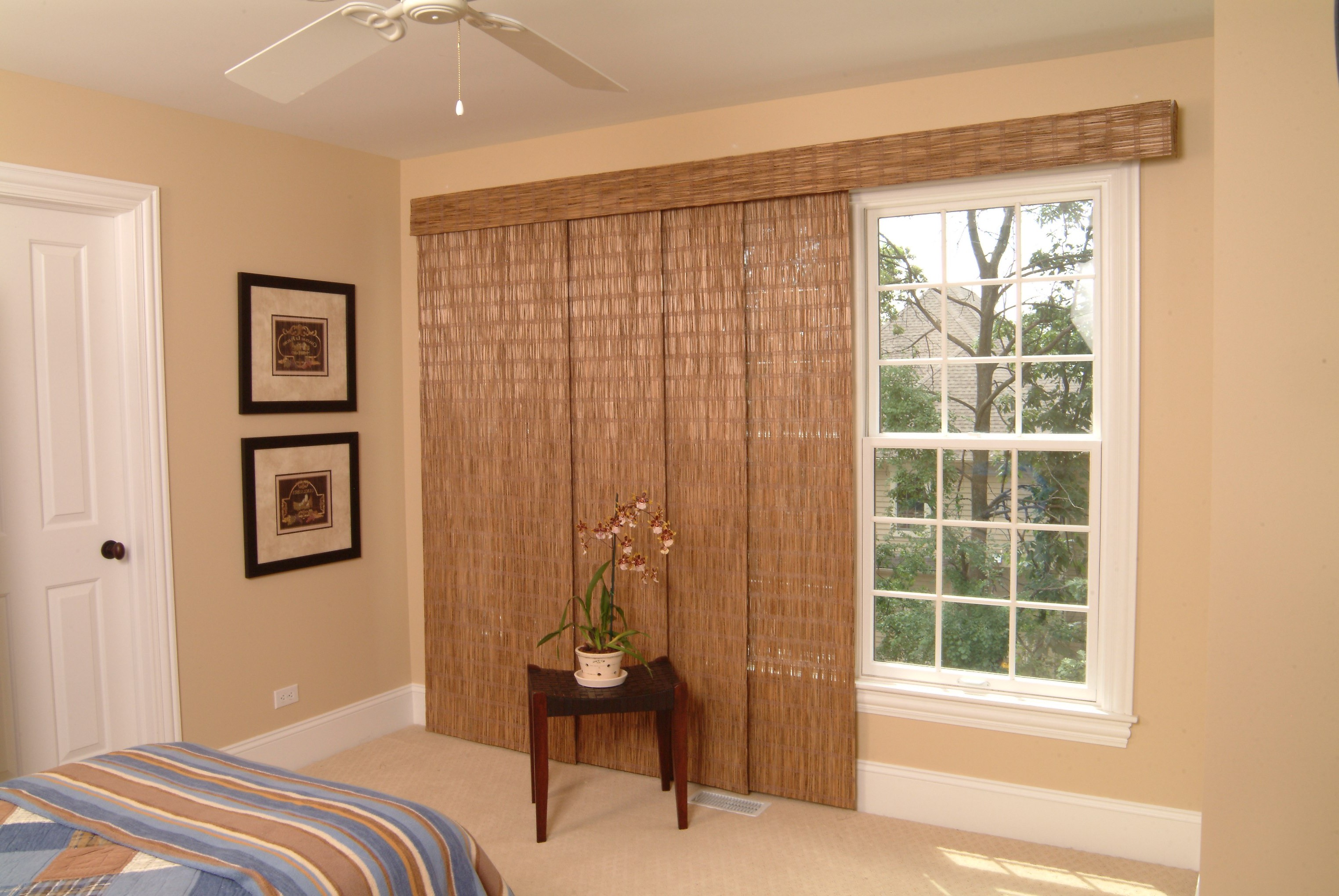 Bamboo Sliding Curtain For Windows Remodel (View 4 of 20)