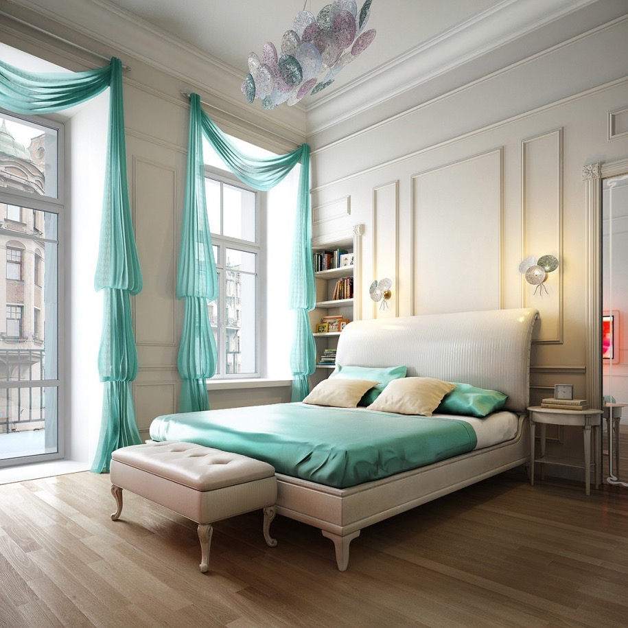 Beautiful Bedroom Curtain Decor For Large Windows (Image 1 of 12)
