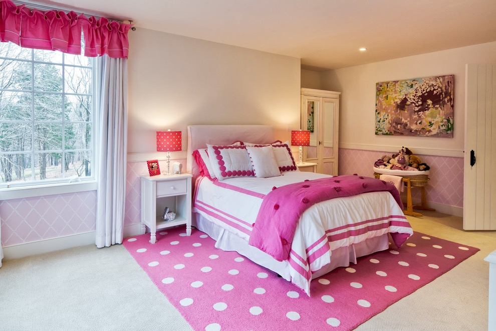 Beauty Kids Bedroom With Pink Rug Colors Decor (Image 1 of 10)