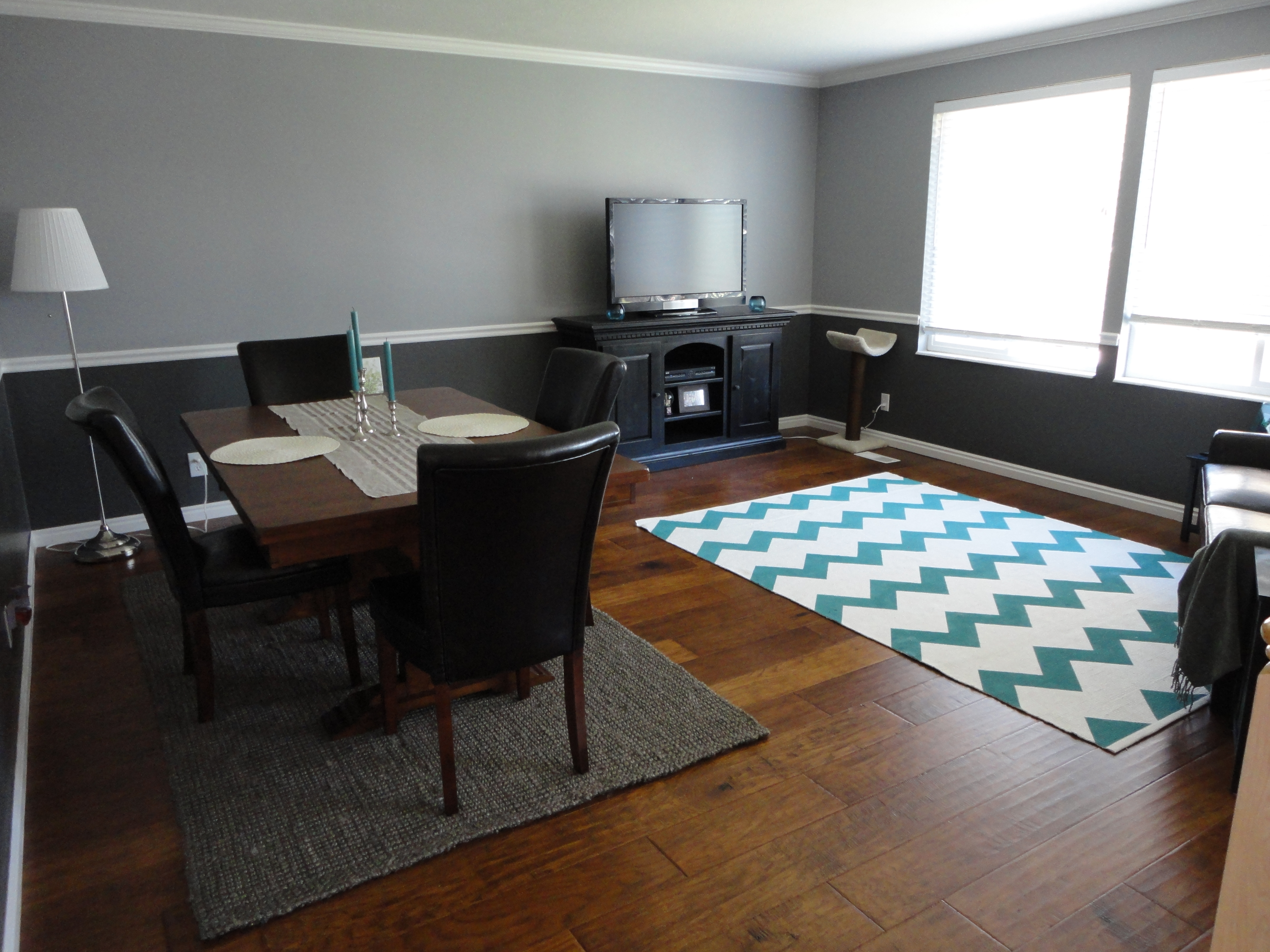 Braided Brown Rug For Open Space Apartment Dining Room Modern Decoration (View 14 of 15)
