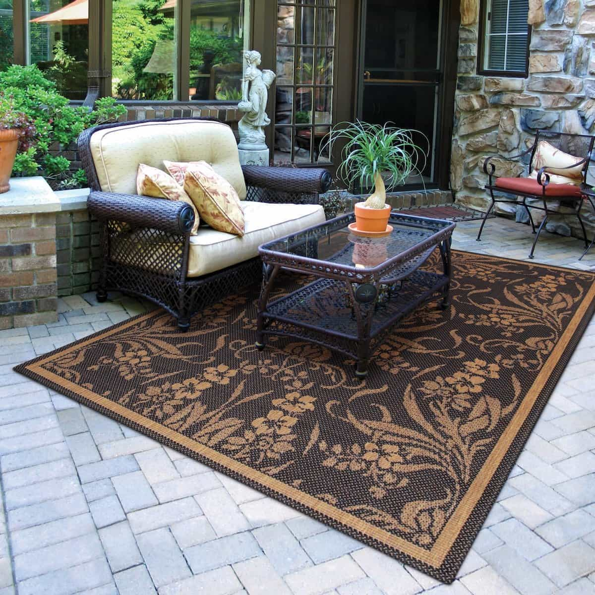 Brown Large Outdoor Rugs For Patios Colors (View 14 of 15)
