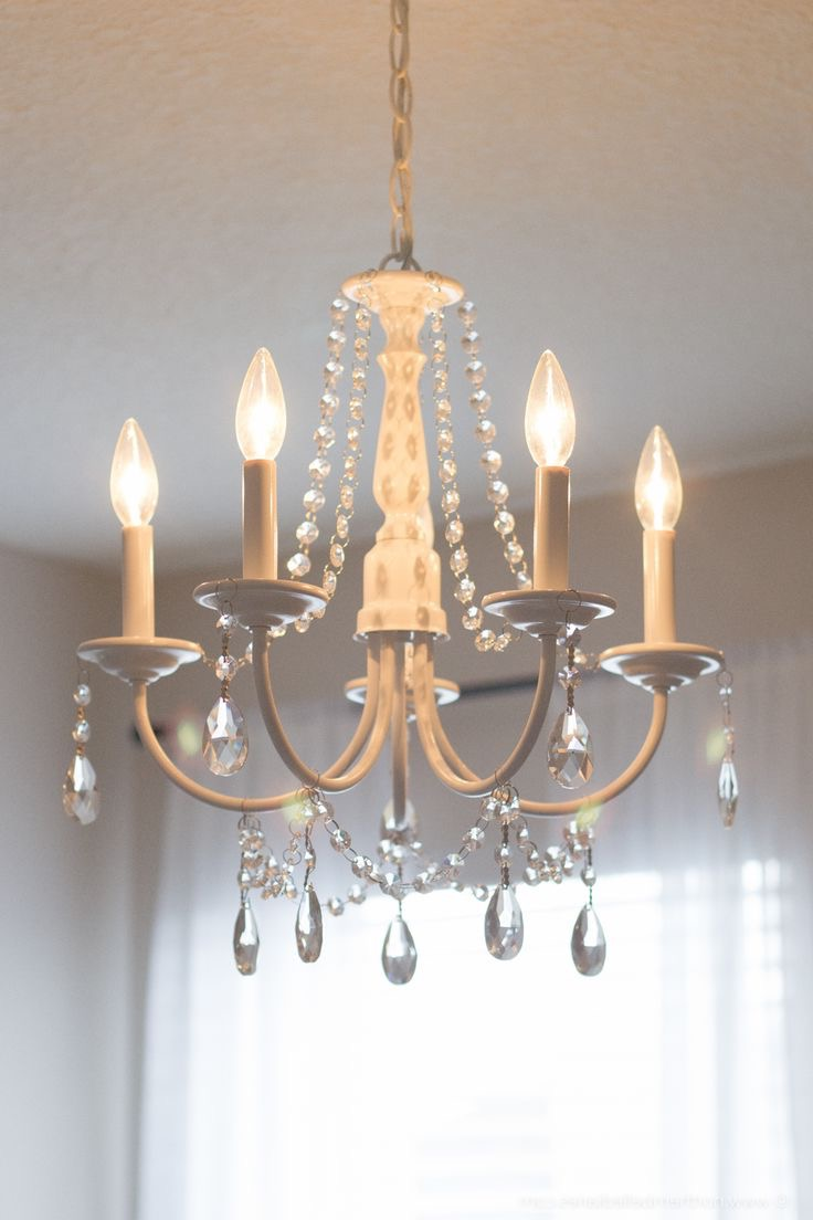 Cheap DIY Crystal Chandelier Decor (View 2 of 15)