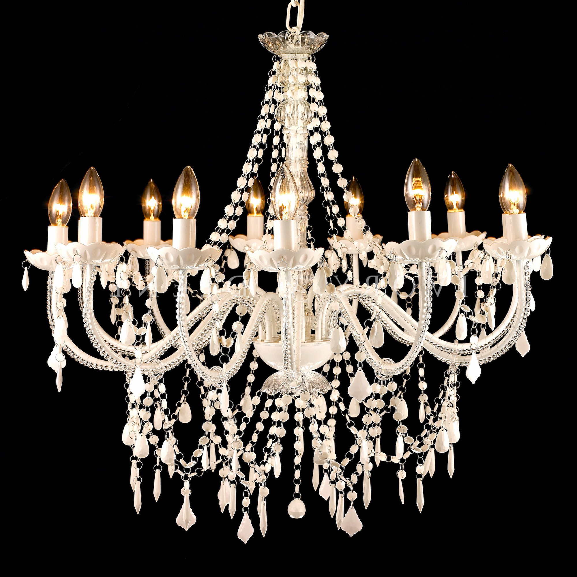 Classical Cheap Chandelier In White Color (Image 9 of 15)