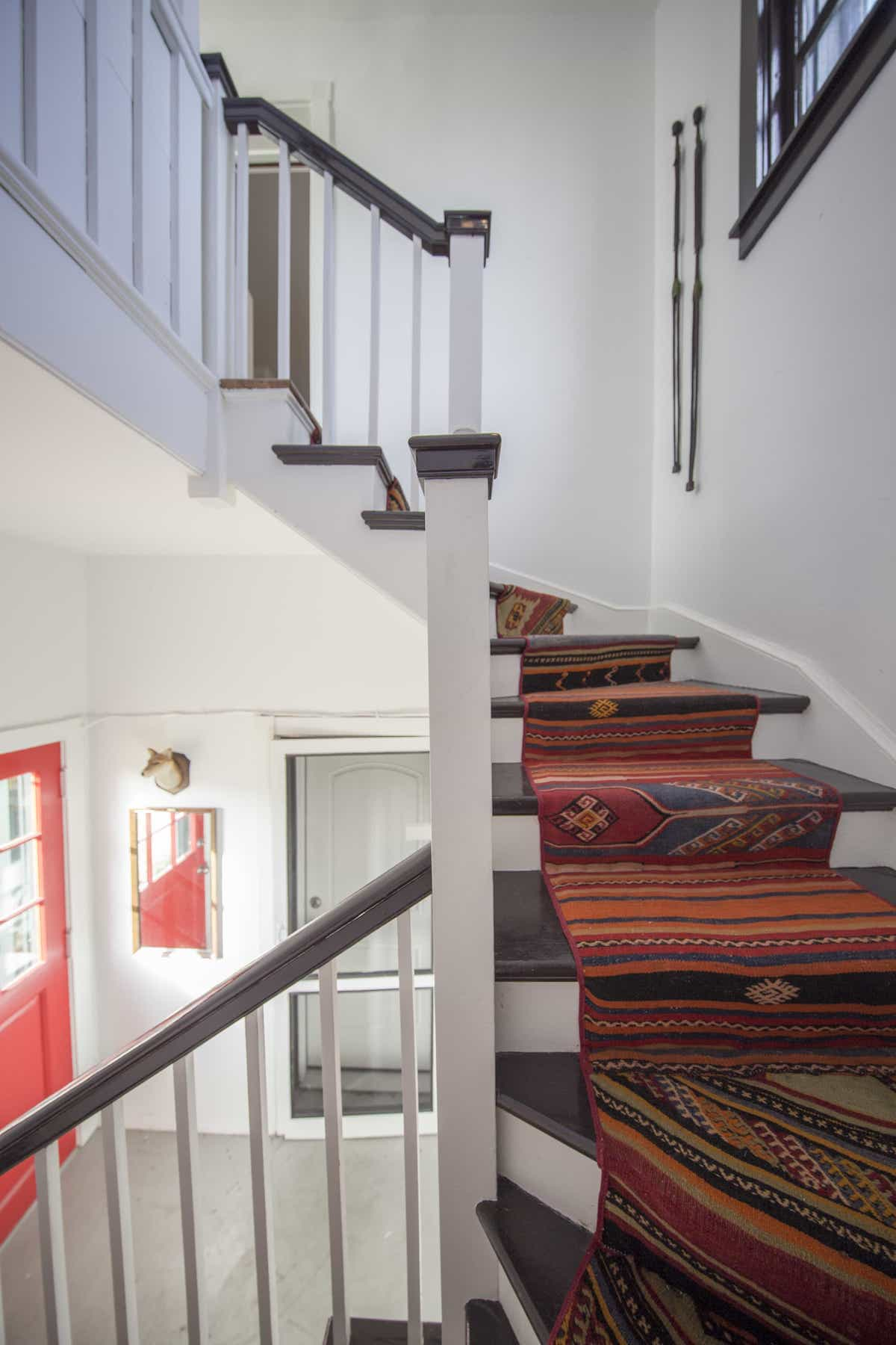 Colorful Southwestern Patterned Rug For Traditional Staircase Rug (Image 3 of 15)