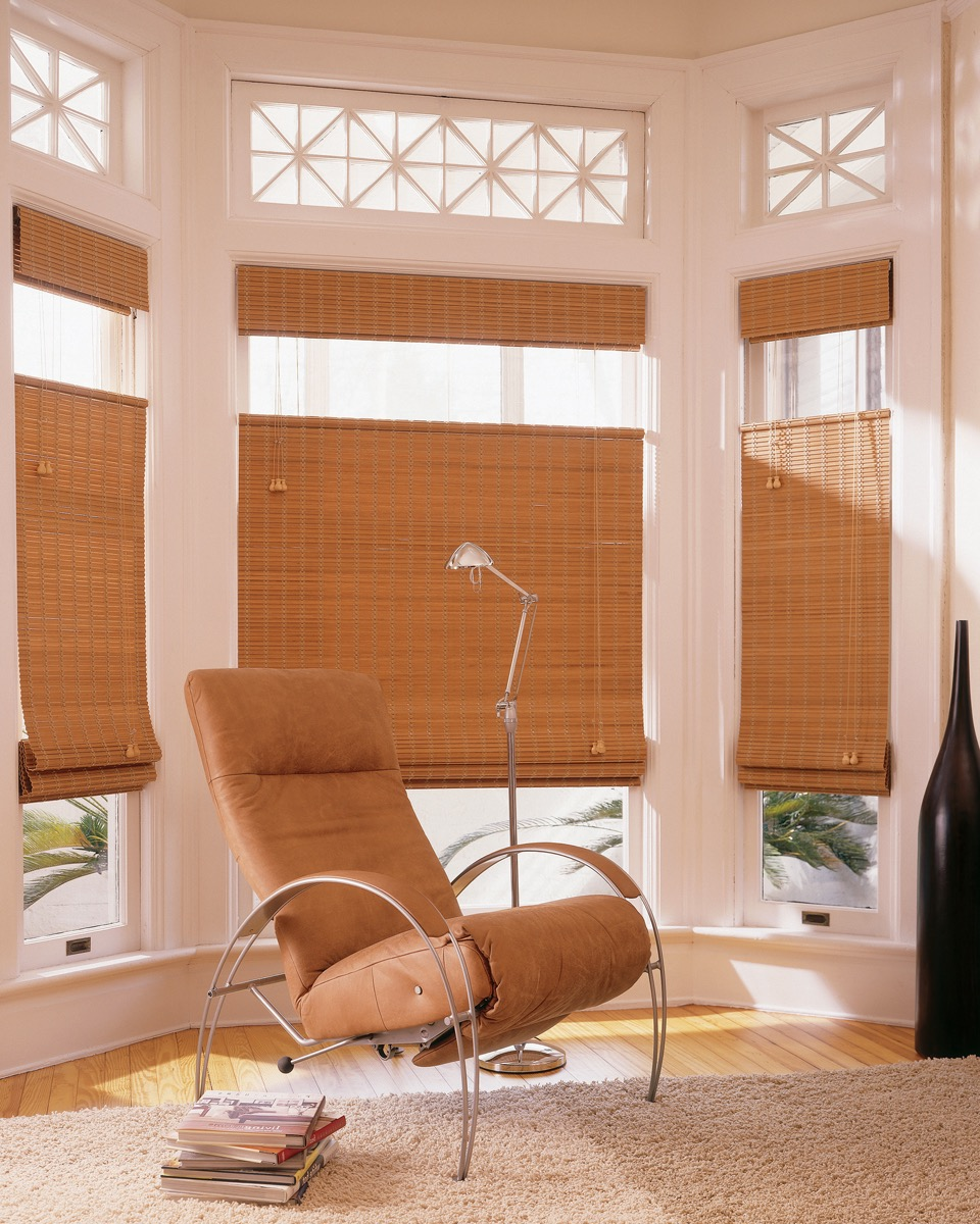Contemporary Bamboo Curtain For Minimalist Sitting Room Windows (Image 8 of 20)
