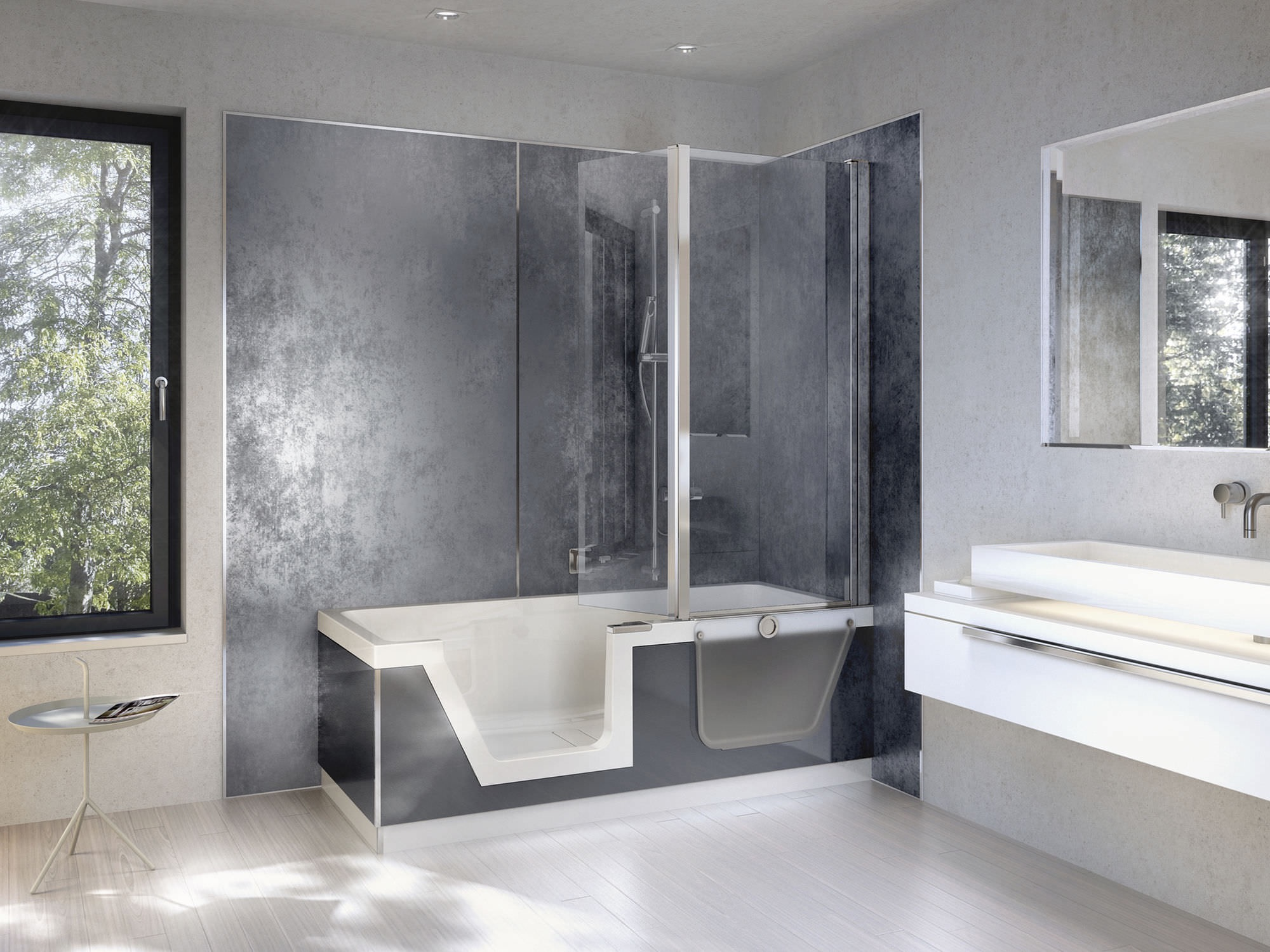Contemporary Elegant Walk In Tubs And Shower Combination Ideas (View 2 of 15)