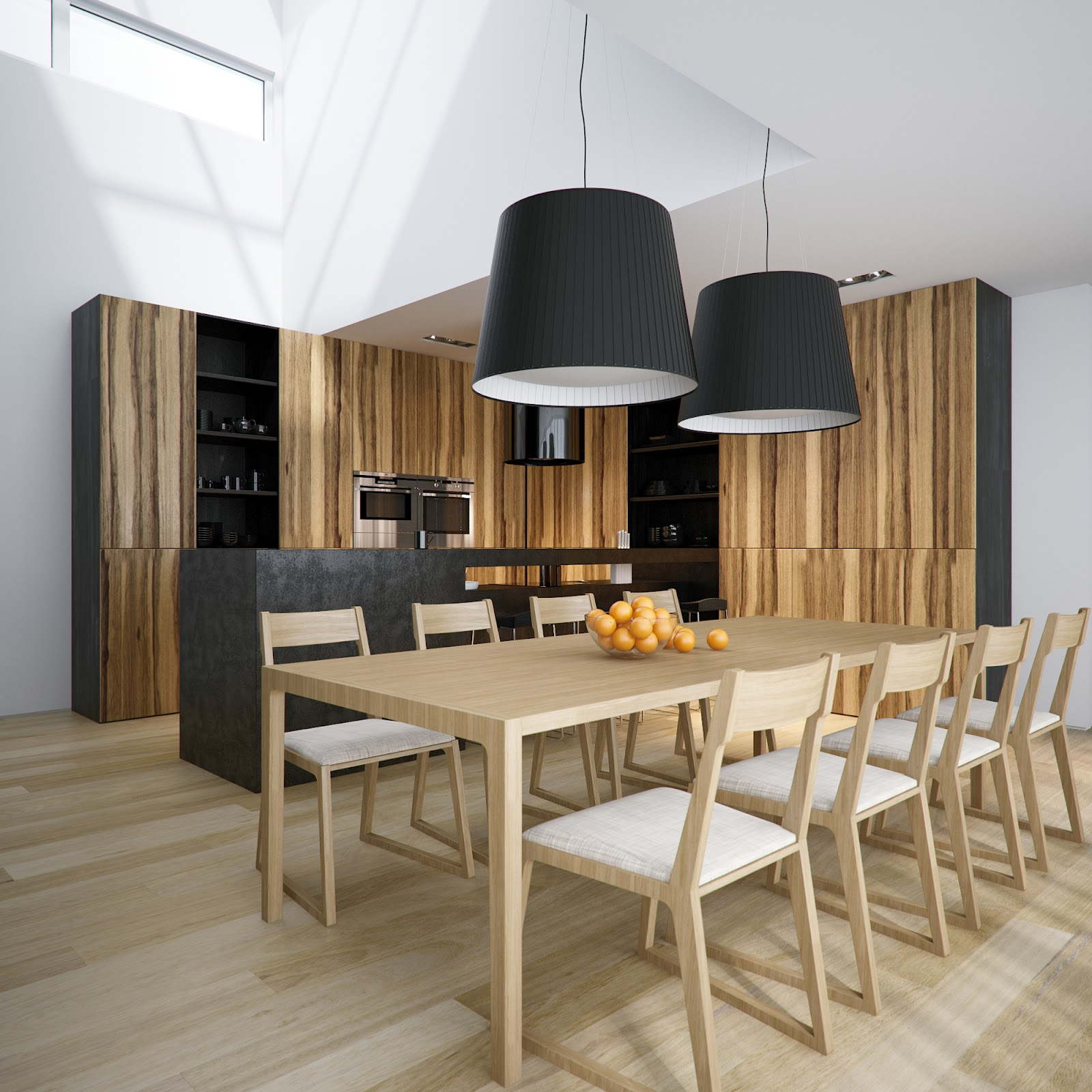 Contemporary Hanging Drum Pendant Lights (Image 9 of 20)