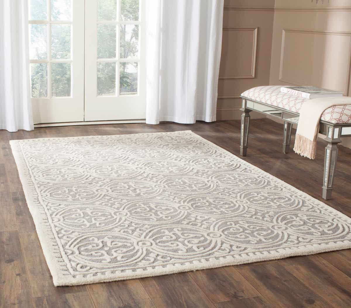 Contemporary Safavieh Handmade Cambridge Moroccan Silver Area Wool Rugs (Image 3 of 15)