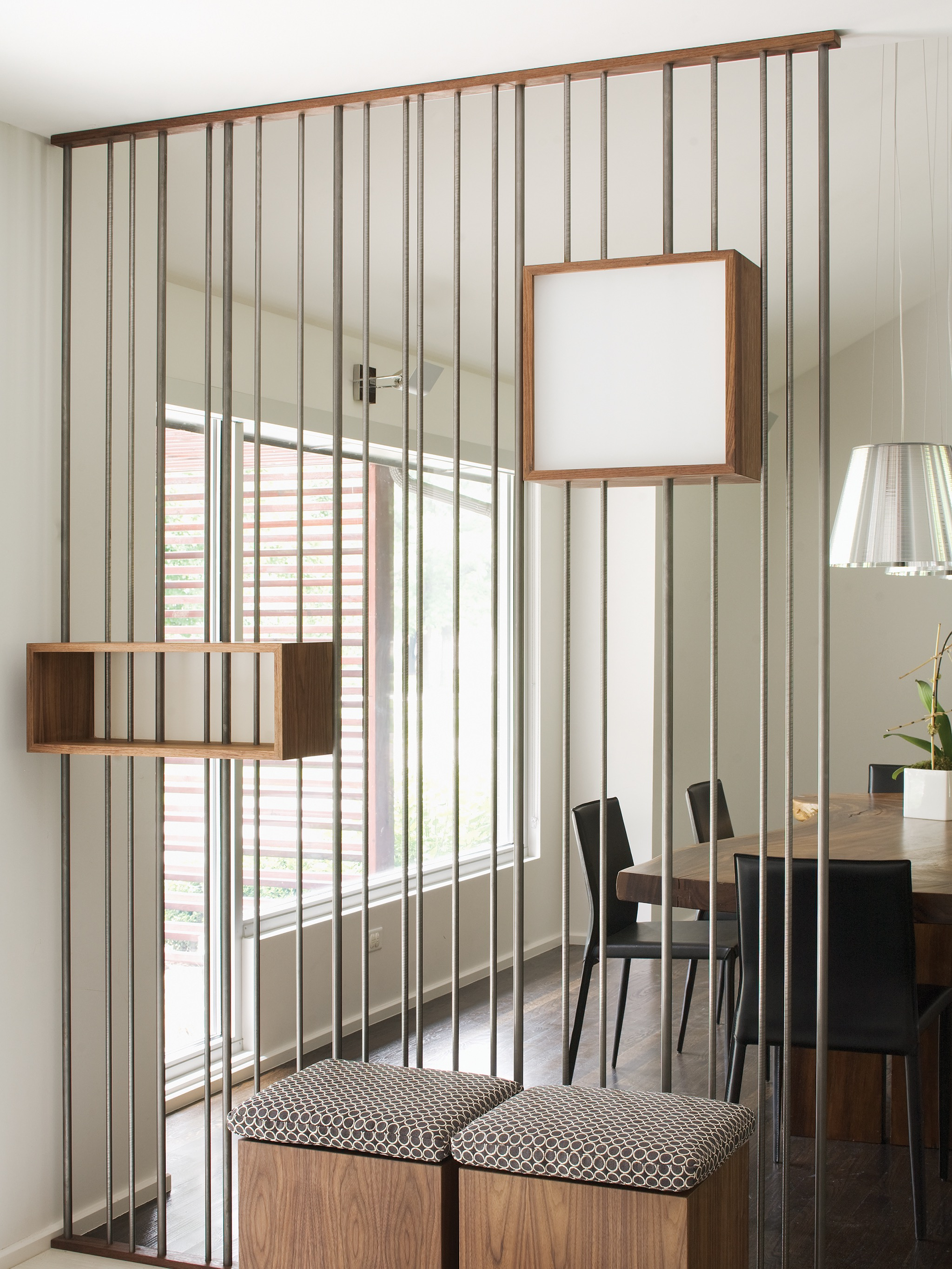Contemporary Sculptural Modern Room Divider With Small Storage (Image 2 of 14)
