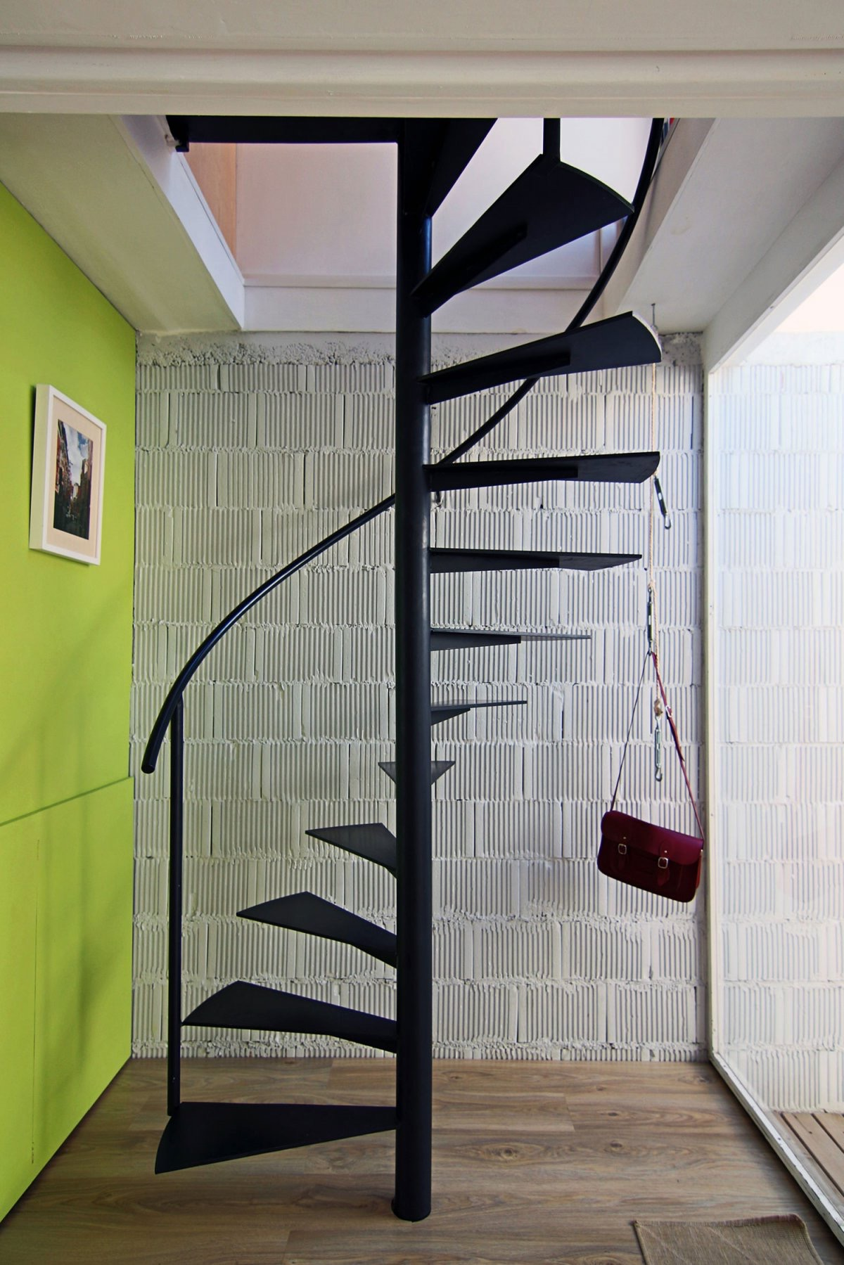 Contemporary Spiral Loft Stairs For Small Space (Image 3 of 10)