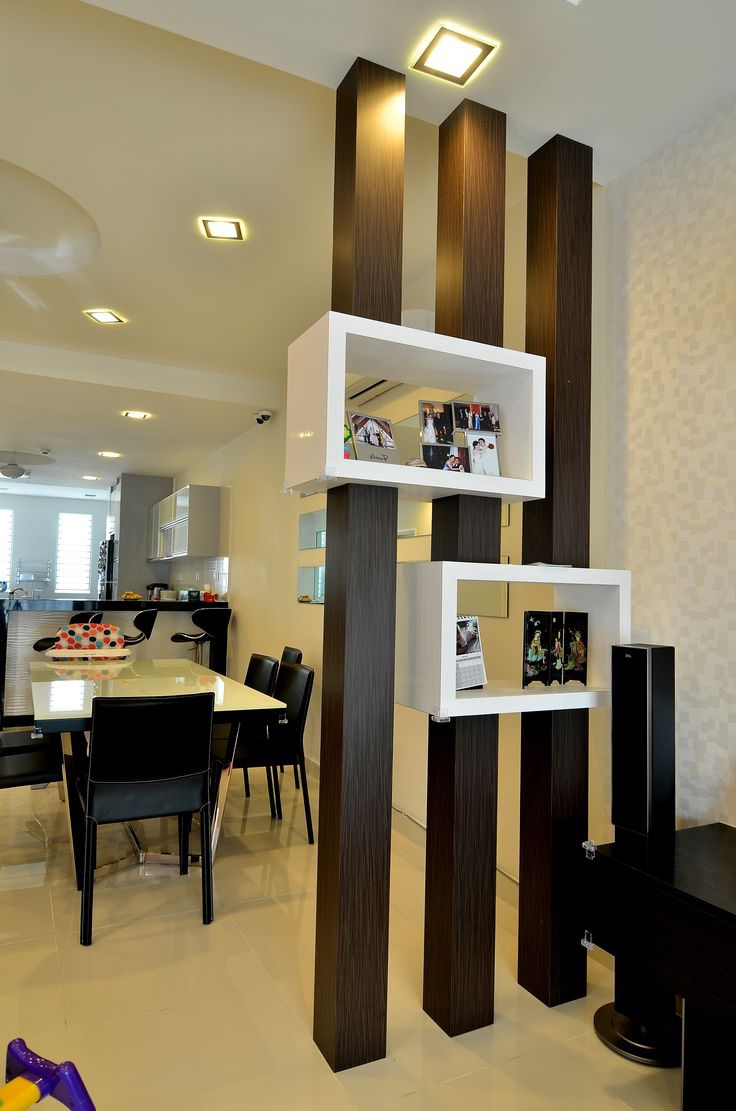 Contemporary Wood Room Divider With Storage (View 14 of 14)