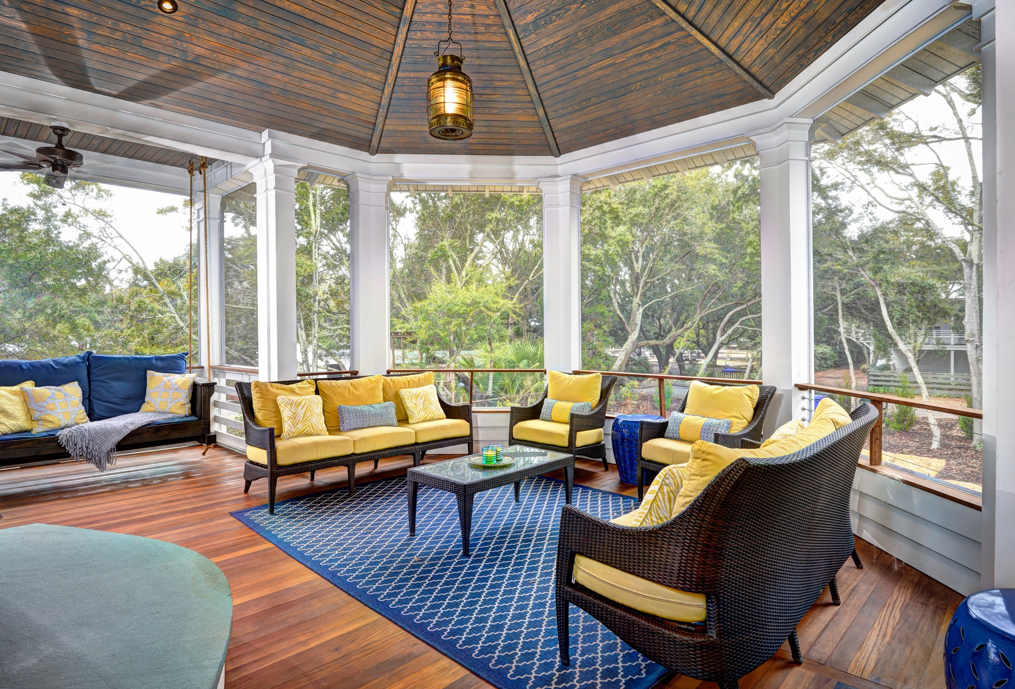Cozy Yellow Thick Cushioned Chairs (Image 4 of 11)