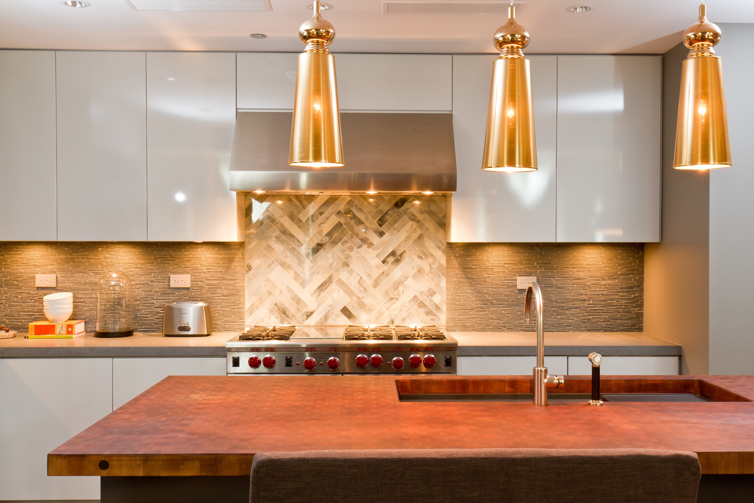 Deluxe Gold Kitchen Hanging Lights (Image 12 Of 20)