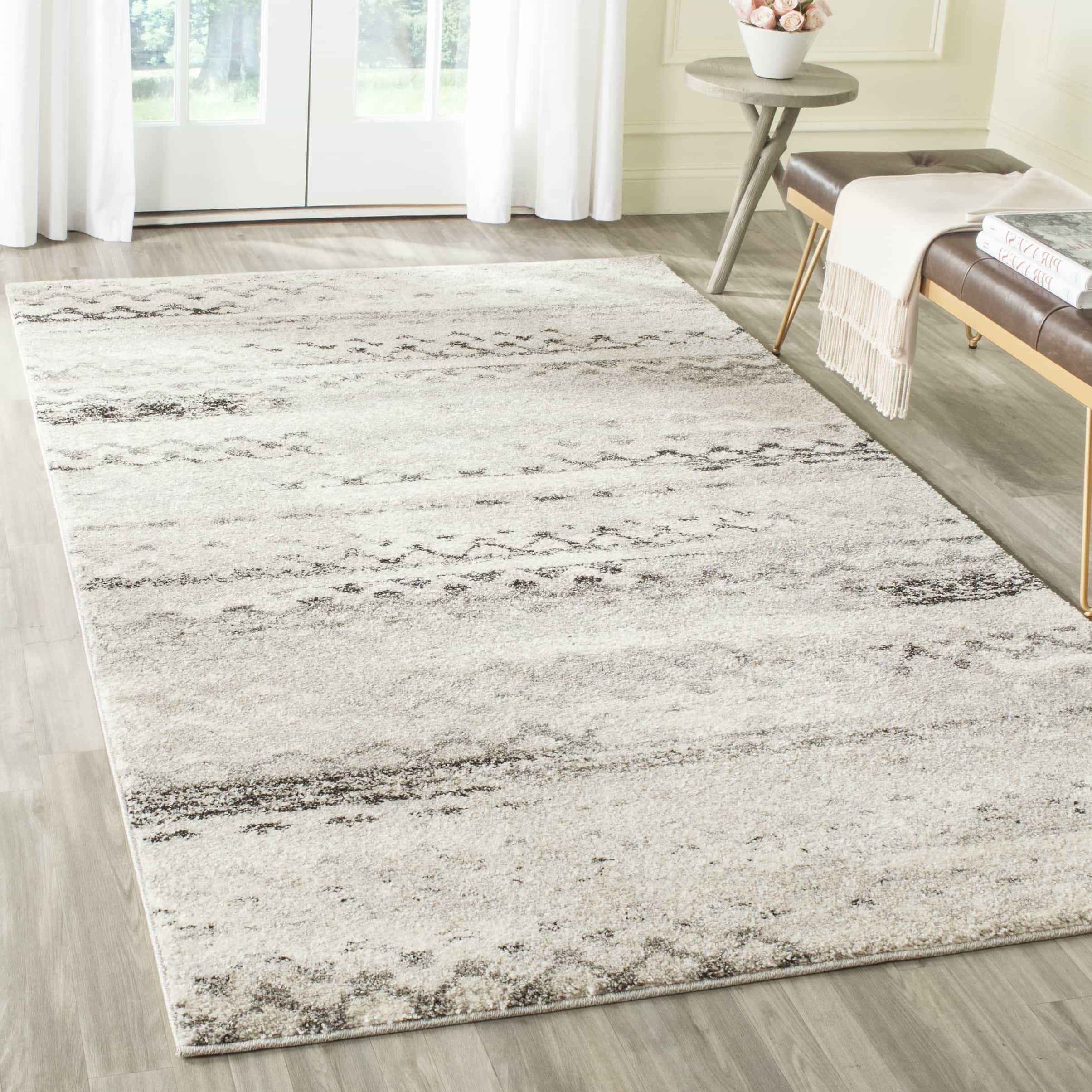 Flokati Rug For Orange And Taupe Living Room (Image 4 of 10)