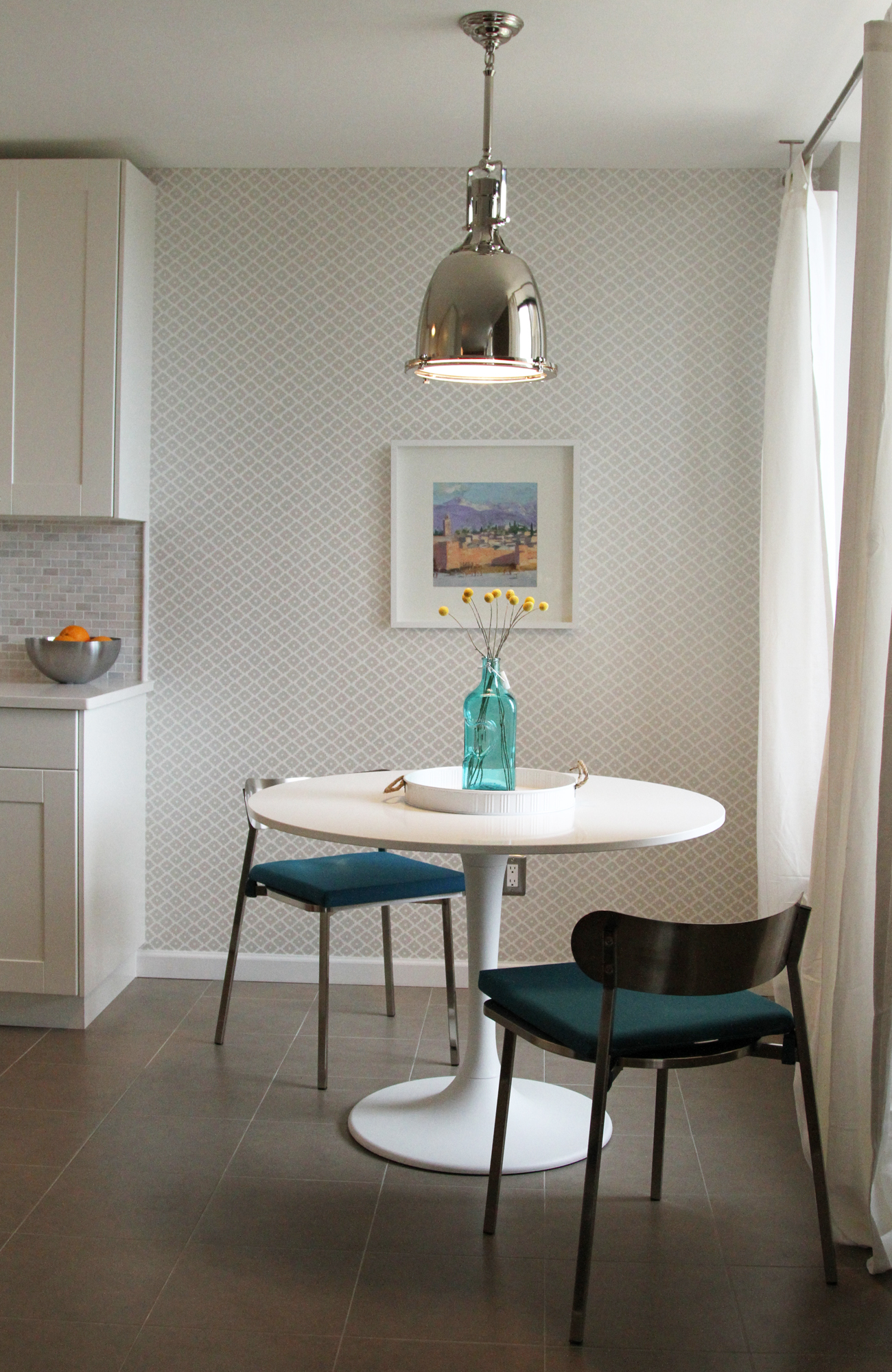 Metal Hanging Pendant Lights For Apartment Breakfast Nook (Image 15 of 20)