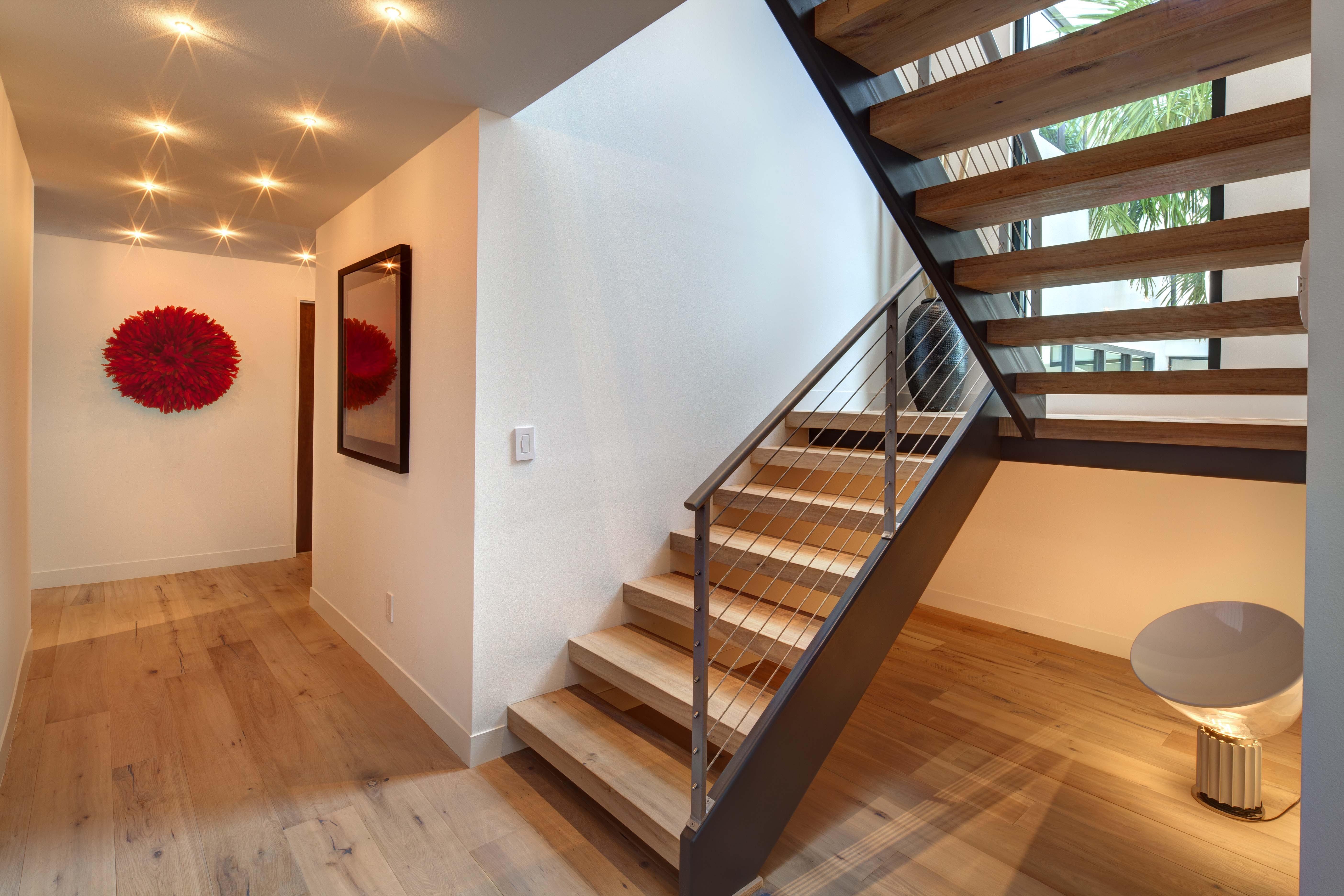 Minimalist Floating Wood Loft Stairs (Image 6 of 10)
