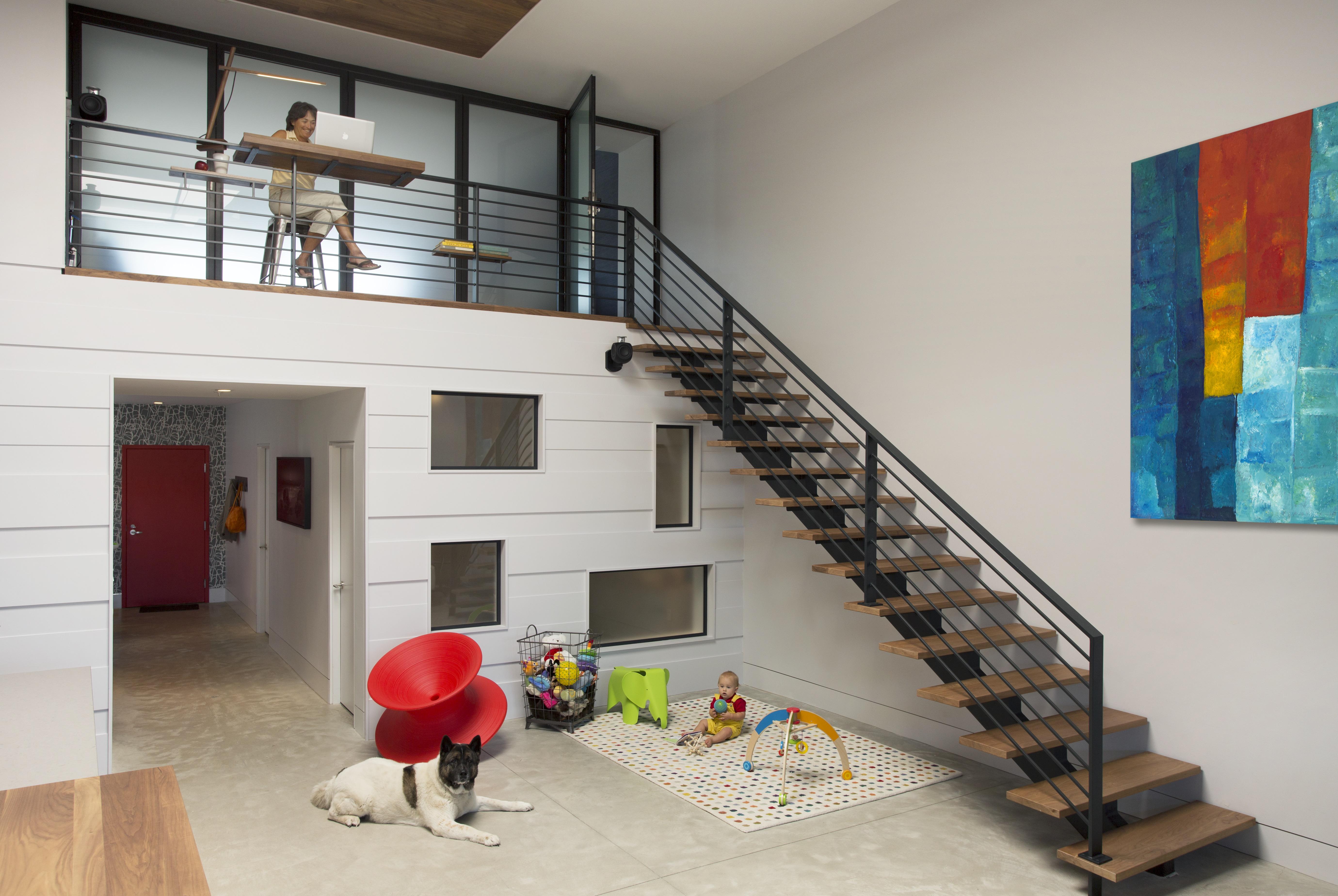 Modern Minimalist Loft Stairs (Image 7 of 10)