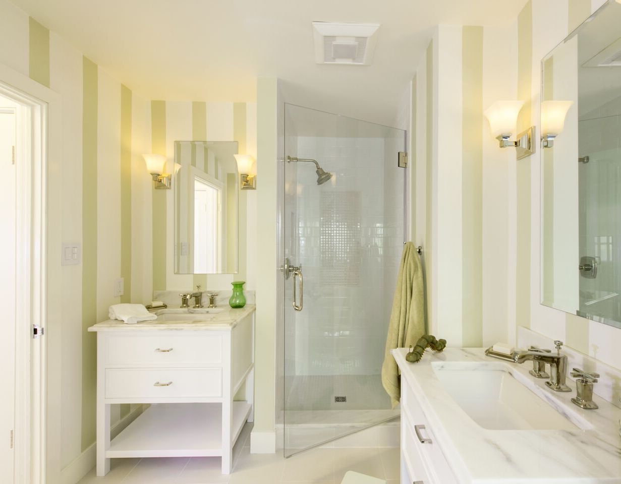 Modern Mirror Bathroom Remodel For Getting Wider Effects (Image 5 of 7)