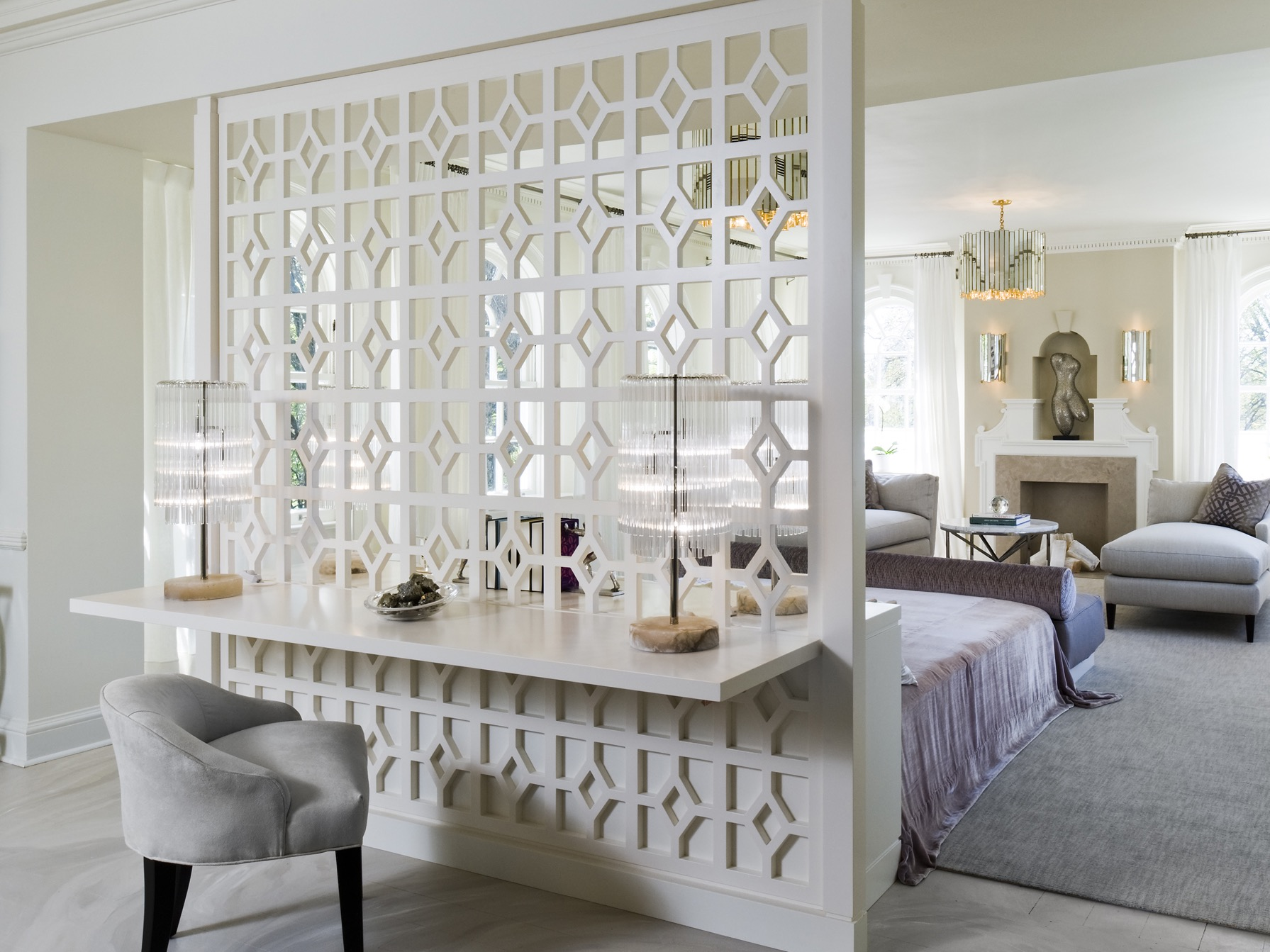 Modern Textured Room Divider For Bedroom Apartment (View 6 of 14)