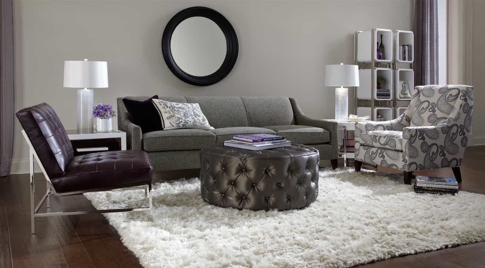 Modern Natural Furry White Shag Rugs For Living Room Decor (Image 9 of 15)