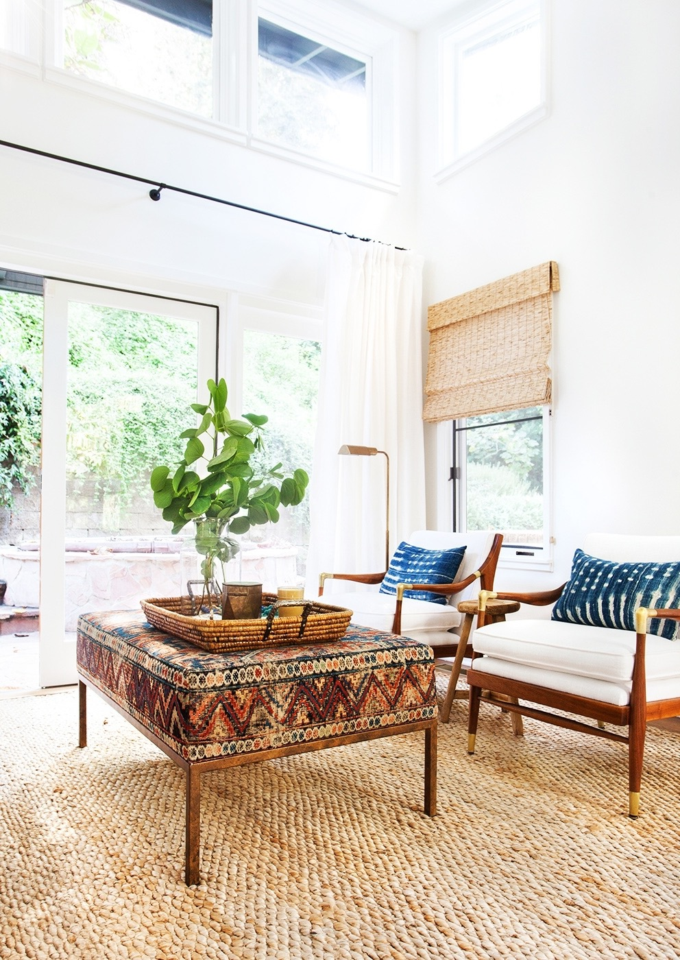 Oriental Living Room Decor With Braided Rugs And Persian Accessories (Image 9 of 15)