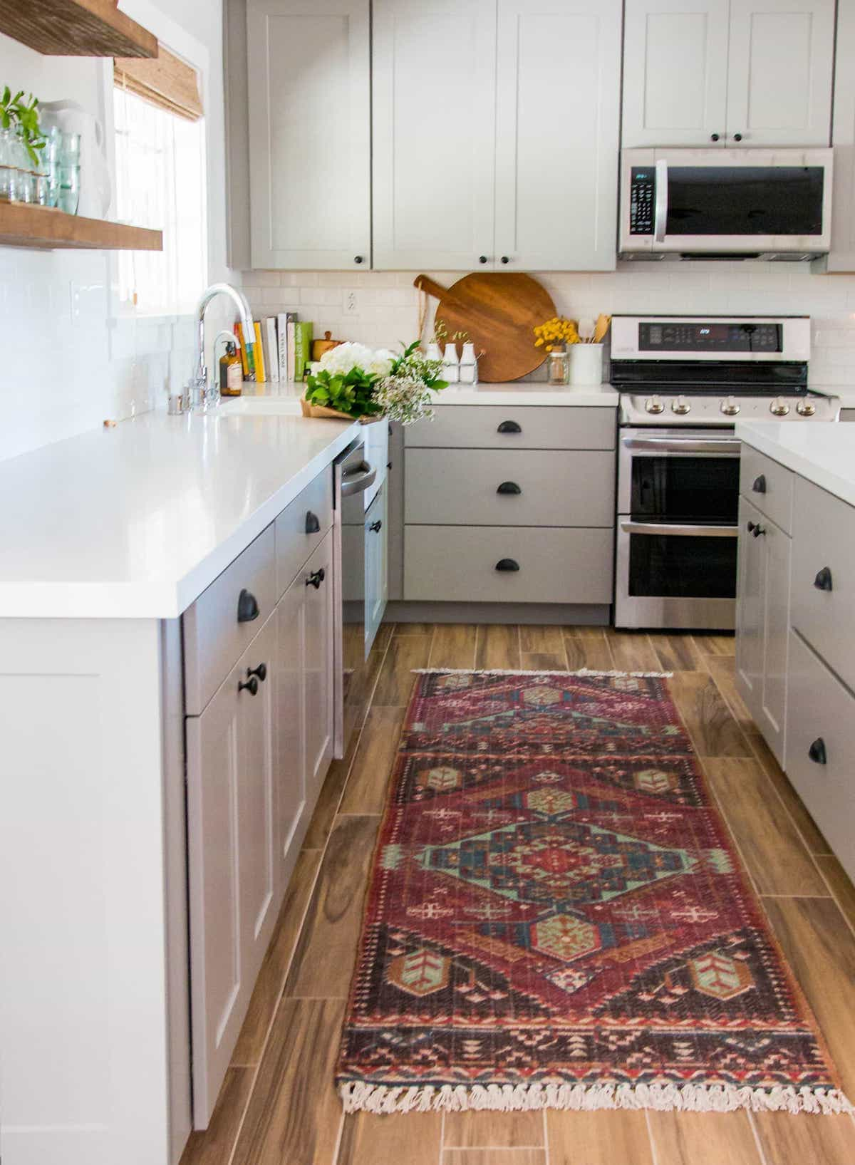 Southwest Diamond Wool Rug Runners For Kitchen Floor (Image 11 of 15)