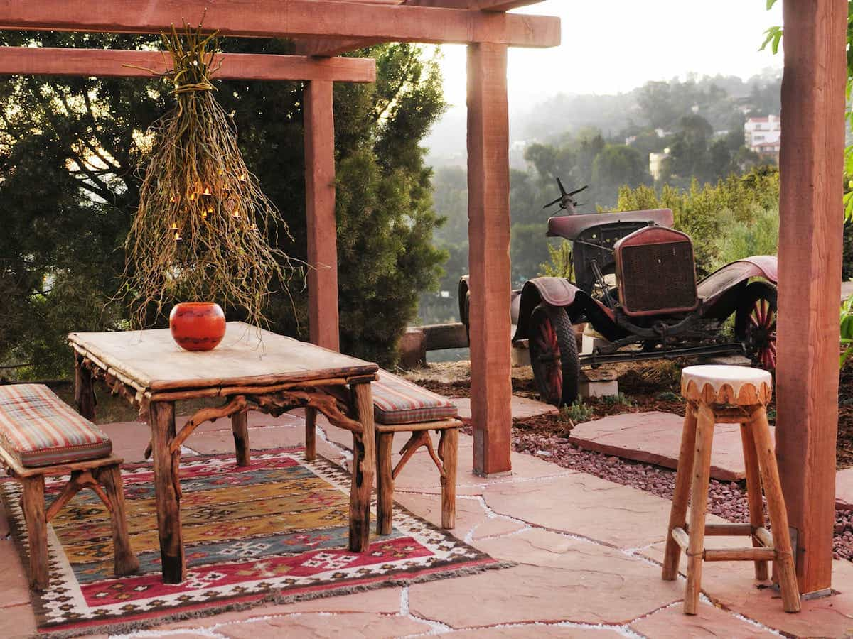 Southwestern Colorful Patterned Rug For Outdoor Dining Room Patio (Image 12 of 15)
