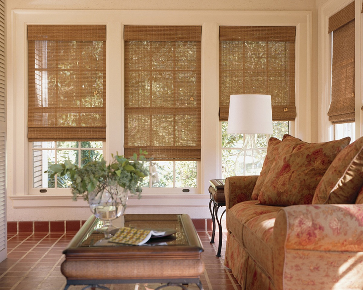 Traditional Bamboo Curtain For Living Room Windows Makeover (Image 19 of 20)