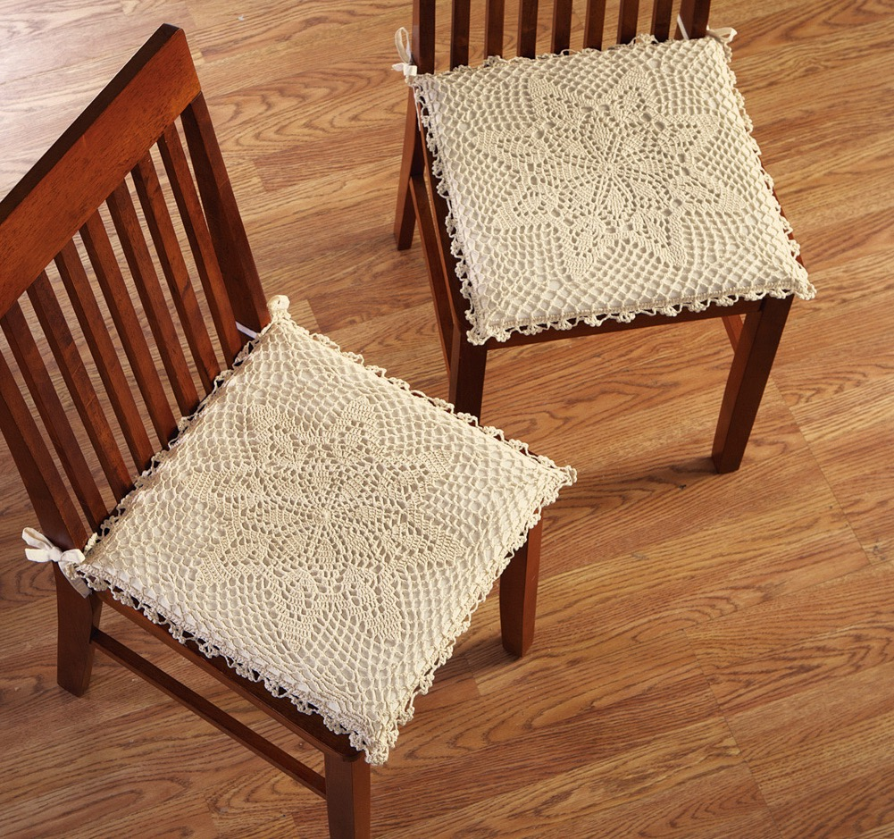 Traditional Floral Chair Cushions (Image 11 of 11)
