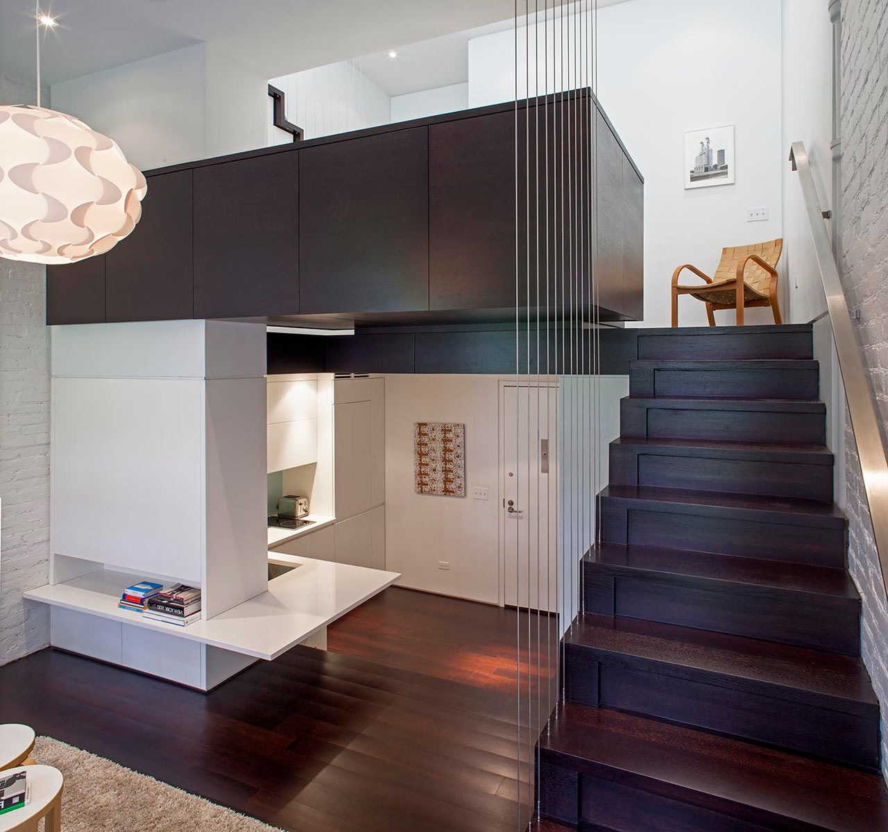 Wood Modern Loft Staircase (Image 10 of 10)