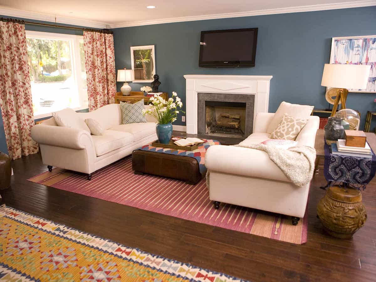 Woven Southwestern Rugs For Eclectic Living Room Area Rug (Image 15 of 15)