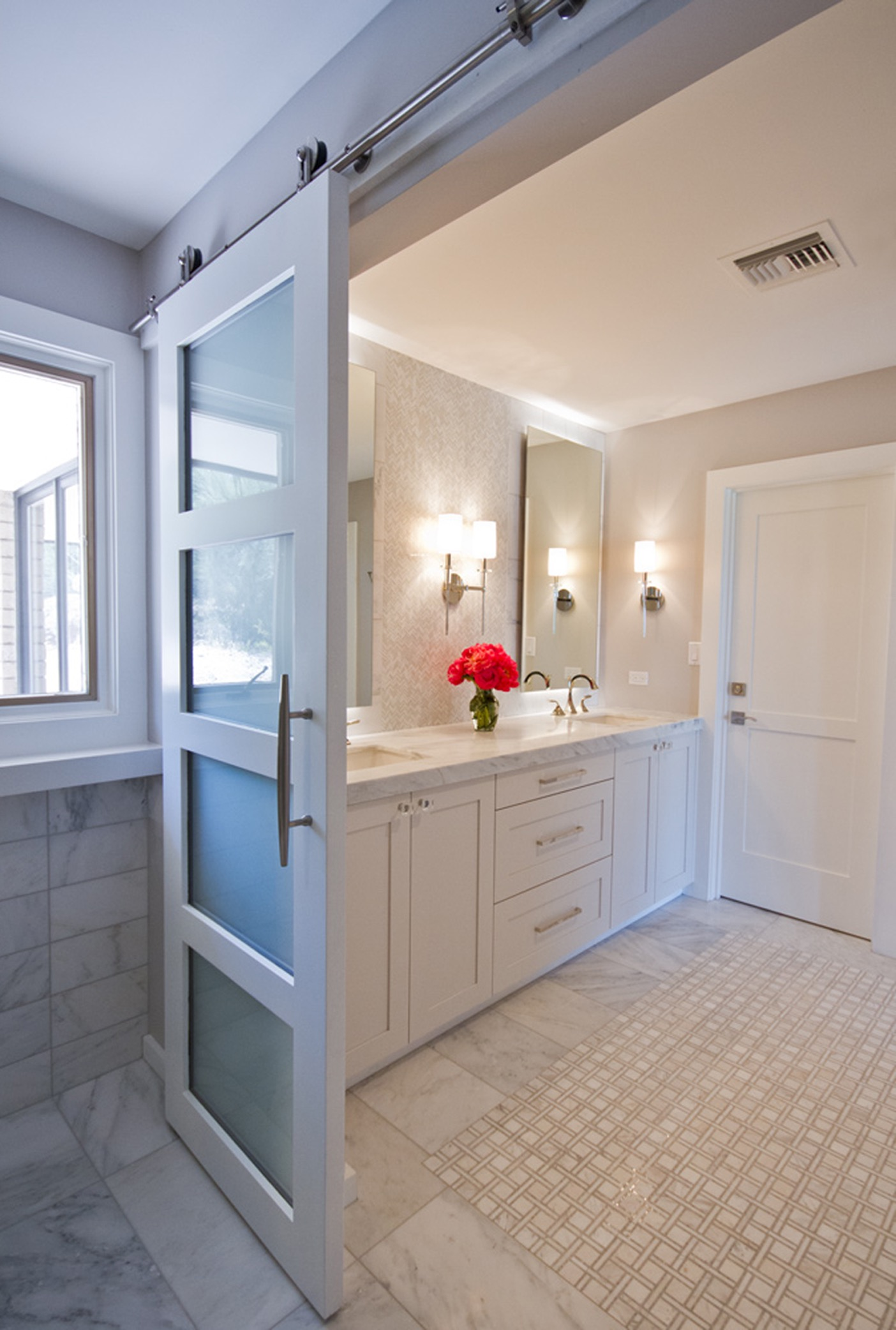 Classic Bathroom Features Plenty Of Storage Space (Image 1 of 20)