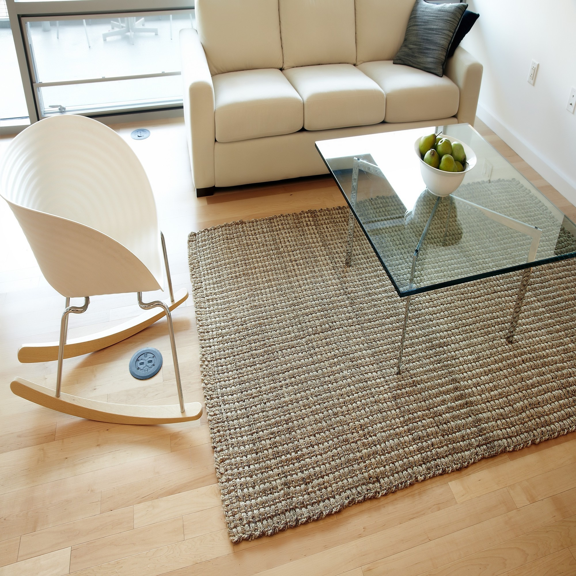 Contemporary Square Braided Rugs For Minimalist Living Room (Image 3 of 15)