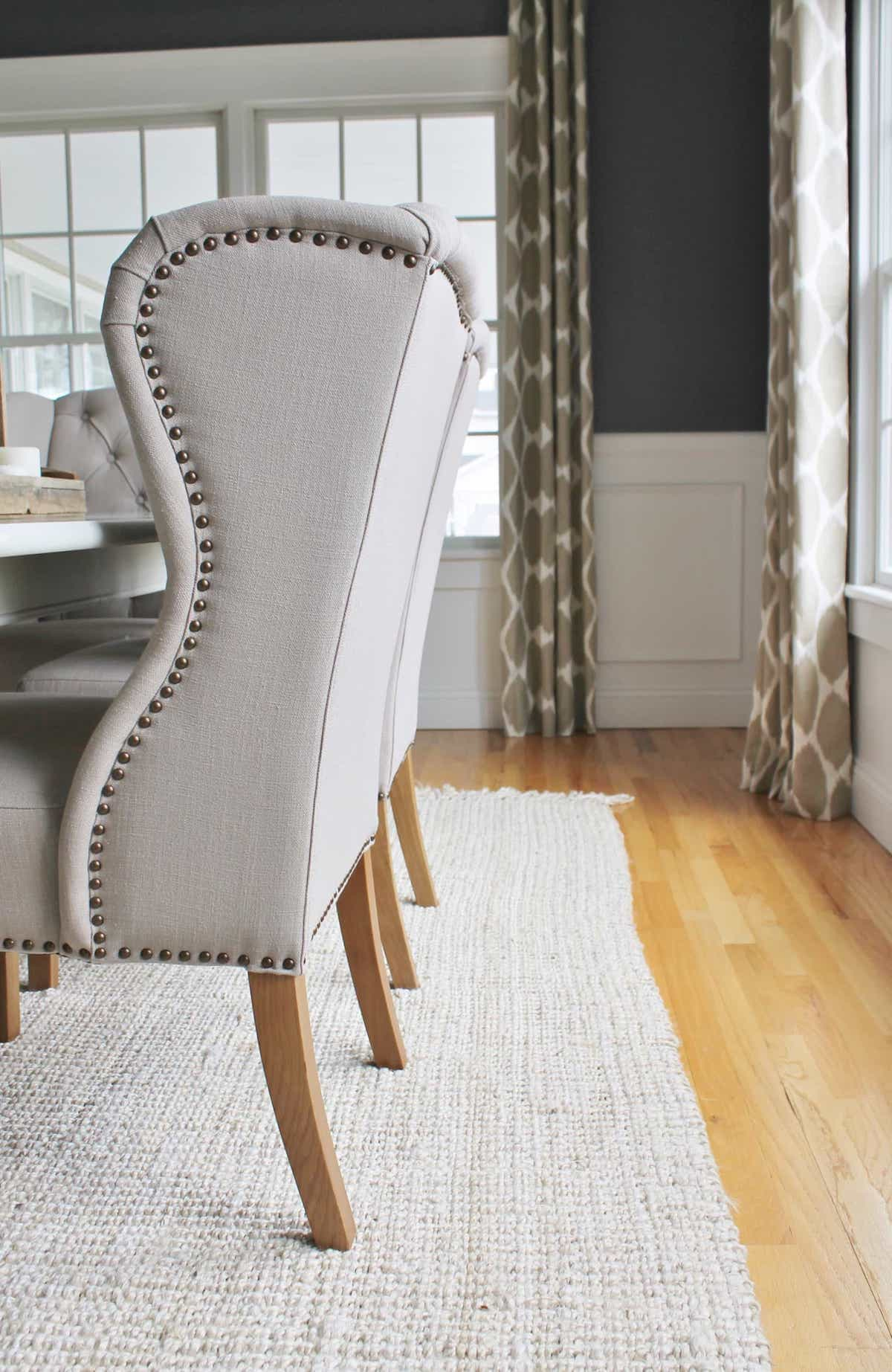 Custom Neutral Sisal Rug Details For Classic Elegant Dining Room Rug Area (Image 6 of 15)