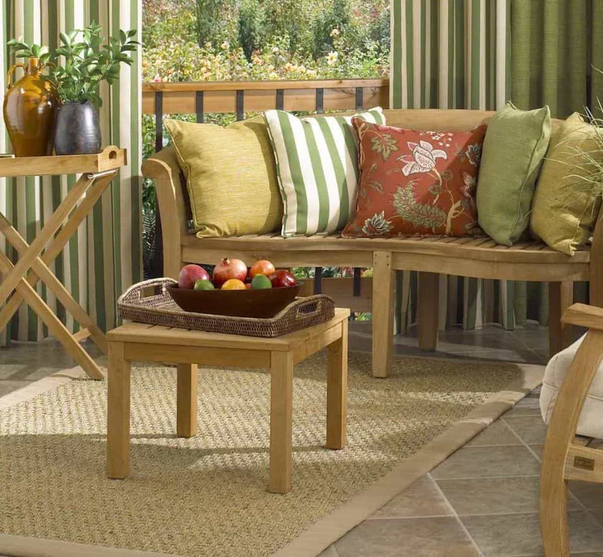 Custom Sisal Rug Details For Outdoor Living Room (Image 7 of 15)