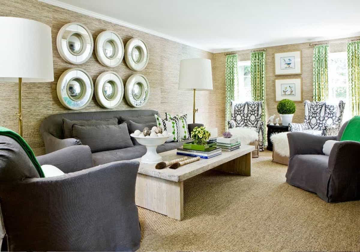 Custom Sisal Rug Details Soft Ivory Traditional Living Room (View 9 of 15)