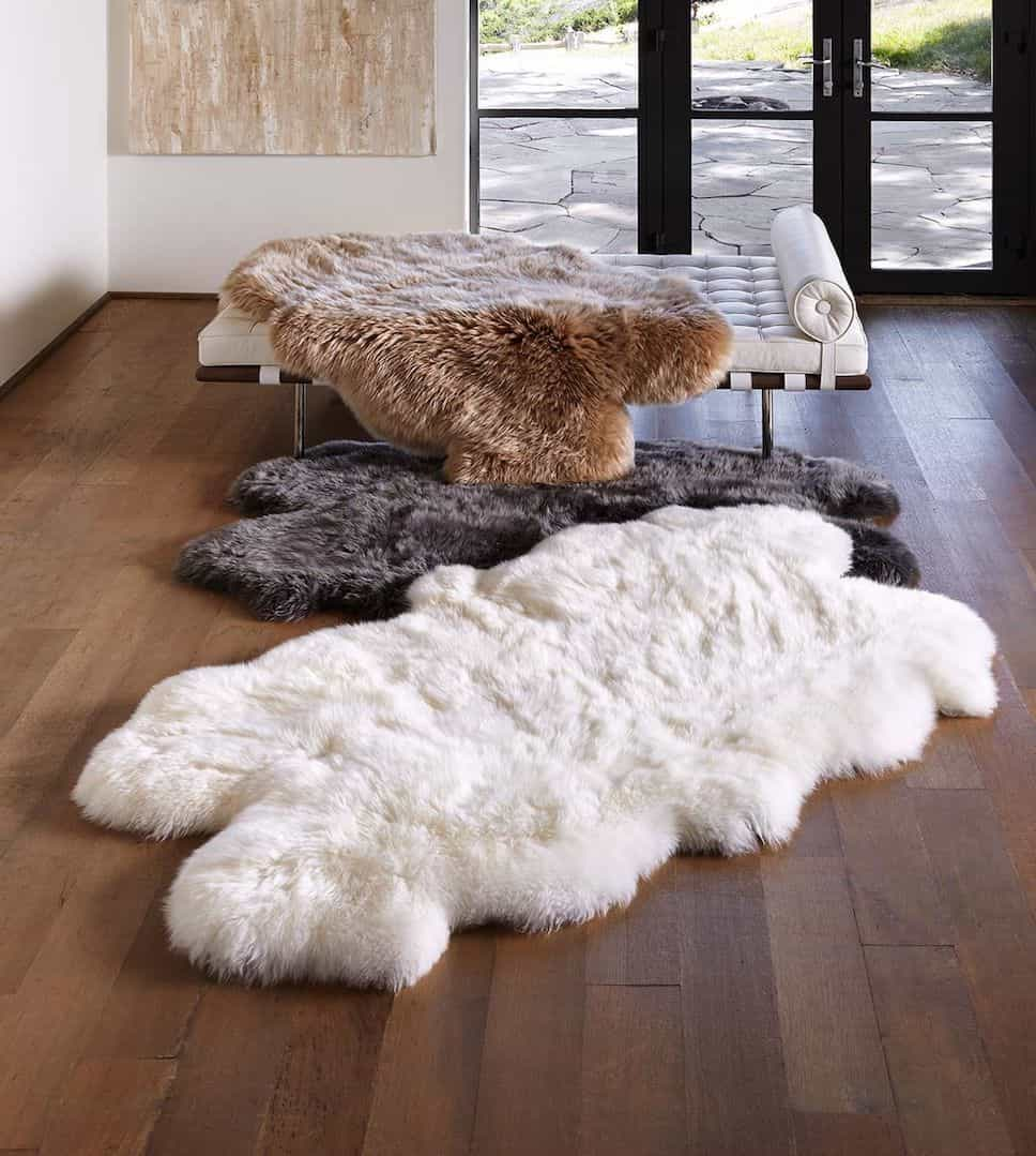 Modern Sheepskin Rugs Sydney With Different Colours (Image 14 of 15)