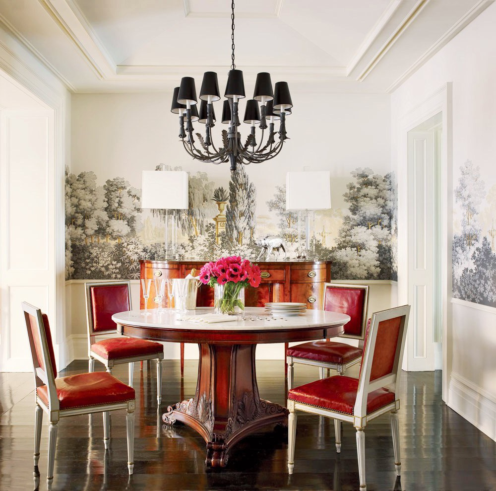 Wonderful Modern Black Chandelier For Modern Round Dining Room (Image 10 of 10)