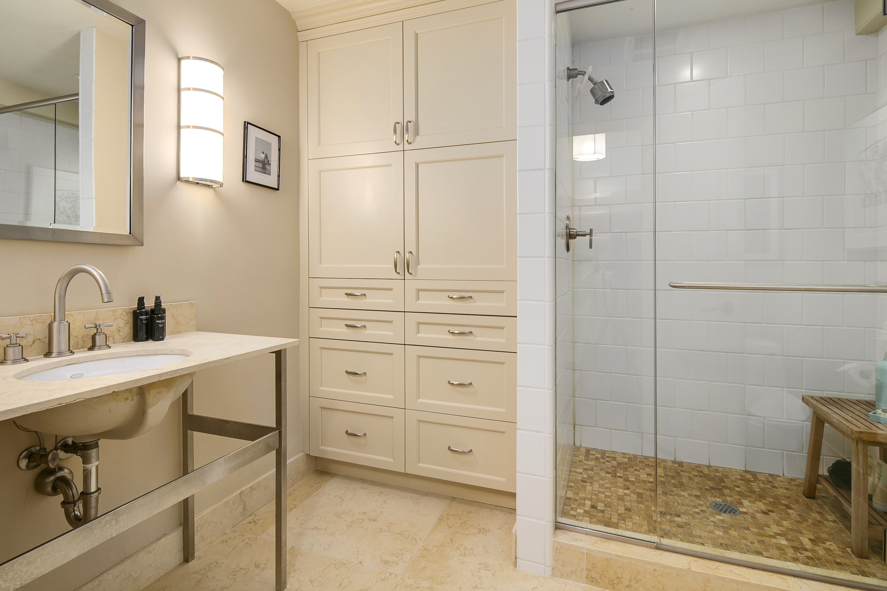 Bathroom cabinet ideas100 design house inverness reviews for Built in bathroom storage vanities