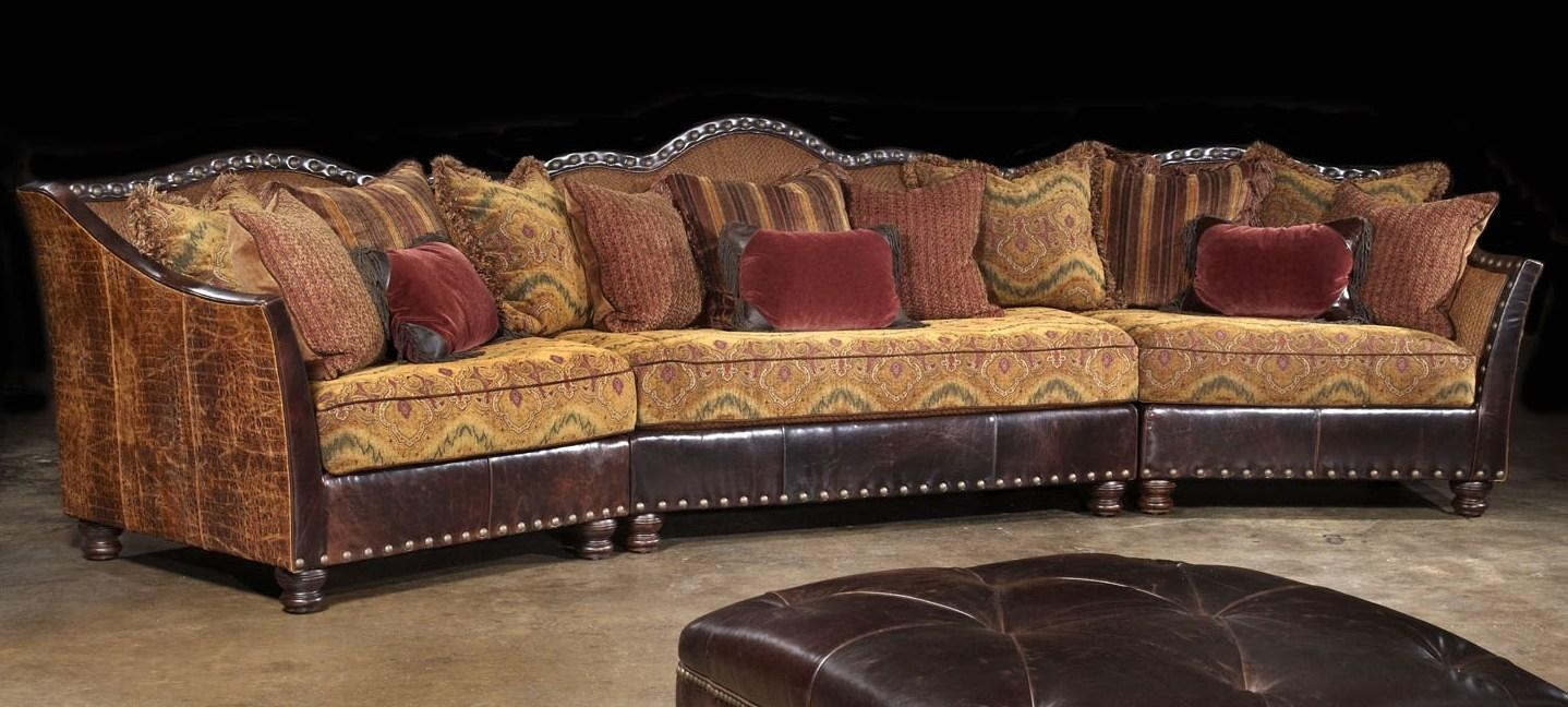 01 Western Furniture. Custom Sectional Sofa, Chairs, Hair Hide Ottoman With Regard To Sofa Chair With Ottoman (Photo 10 of 20)