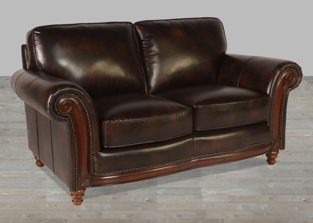 100% Full Grain Leather Sofa With Nailheads Pertaining To Full Grain Leather Sofas (View 14 of 20)