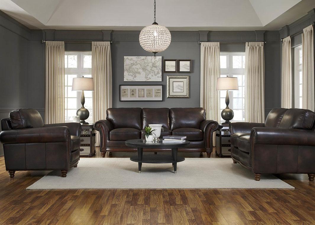 100% Full Grain Leather Sofa With Nailheads Throughout Full Grain Leather Sofas (View 17 of 20)