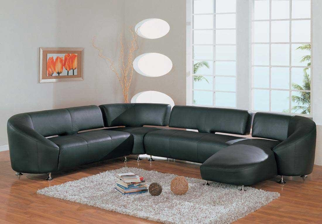 12 Green Leather Sectional Sofa | Carehouse Regarding Green Leather Sectional Sofas (Image 1 of 20)