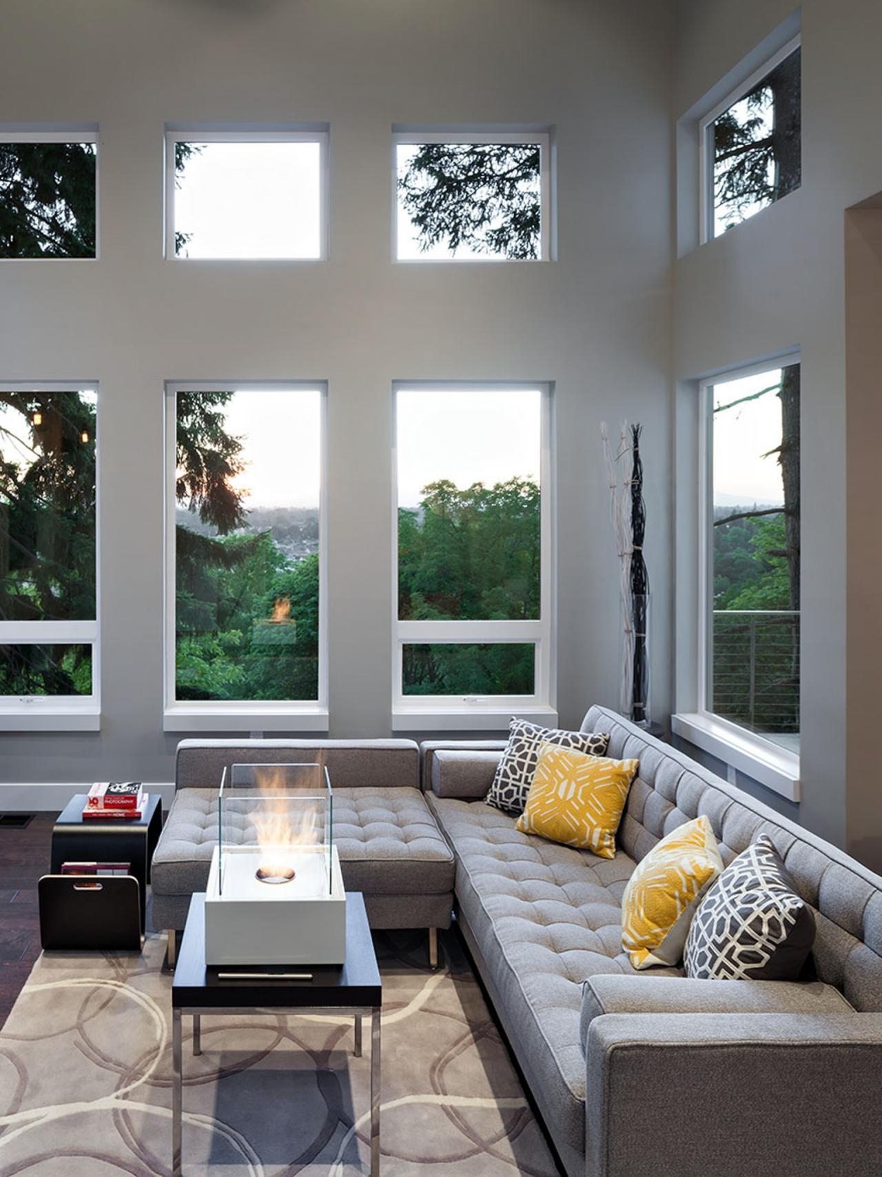 12 Living Room Ideas For A Grey Sectional | Hgtv's Decorating With Gray Sofas For Living Room (View 13 of 20)