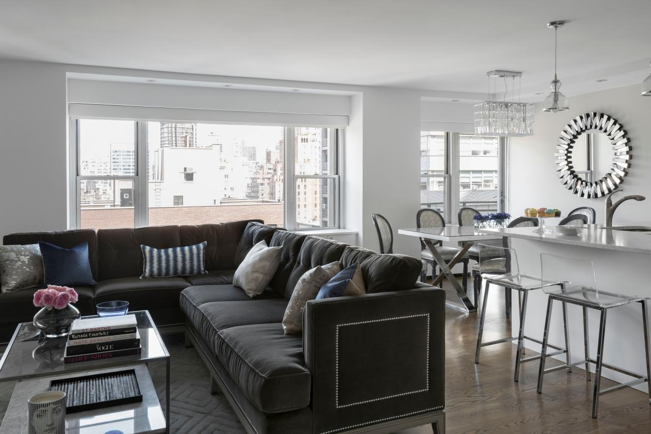 12 Living Room Ideas For A Grey Sectional | Hgtv's Decorating With Gray Sofas For Living Room (View 7 of 20)