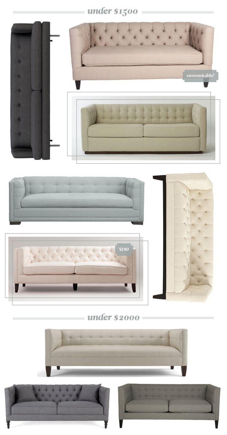1289 Best Furniture / Sofa & Loveseat Settee Images On Pinterest Pertaining To Affordable Tufted Sofas (Image 2 of 20)