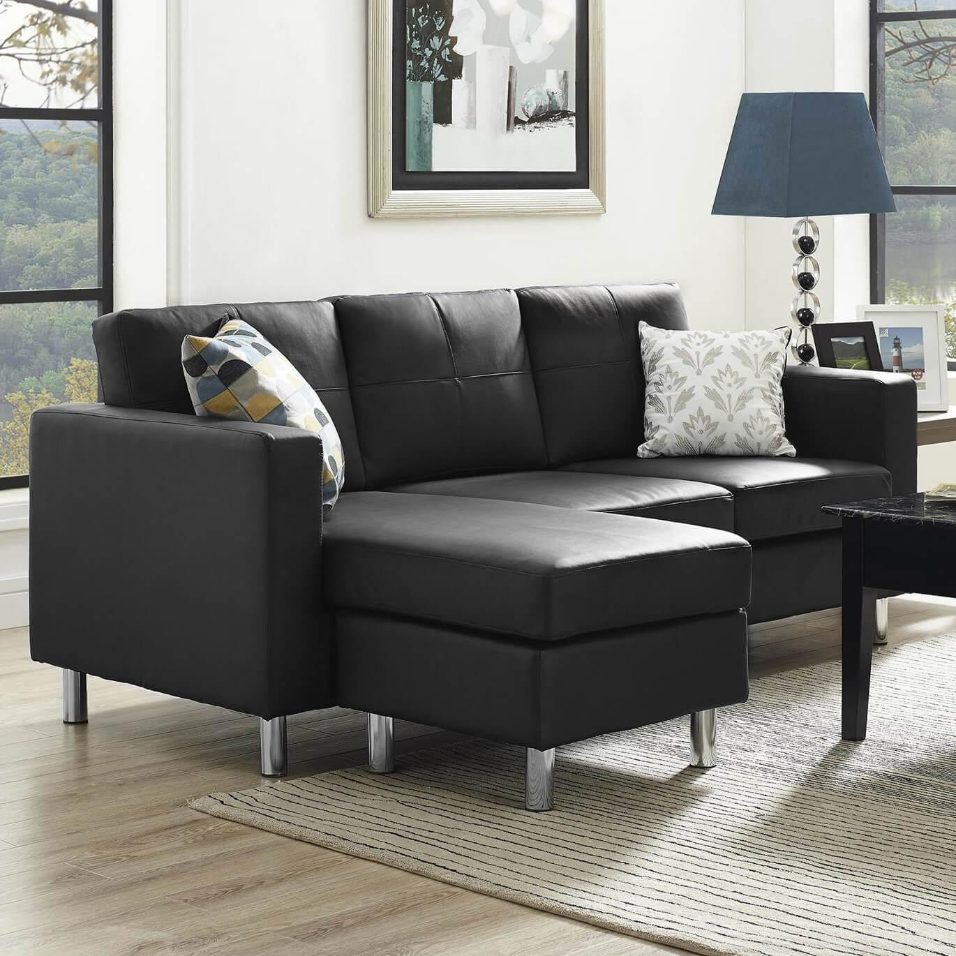 13 Sectional Sofas Under $500 (Several Styles) | Home Stratosphere For Black Microfiber Sectional Sofas (Image 1 of 20)