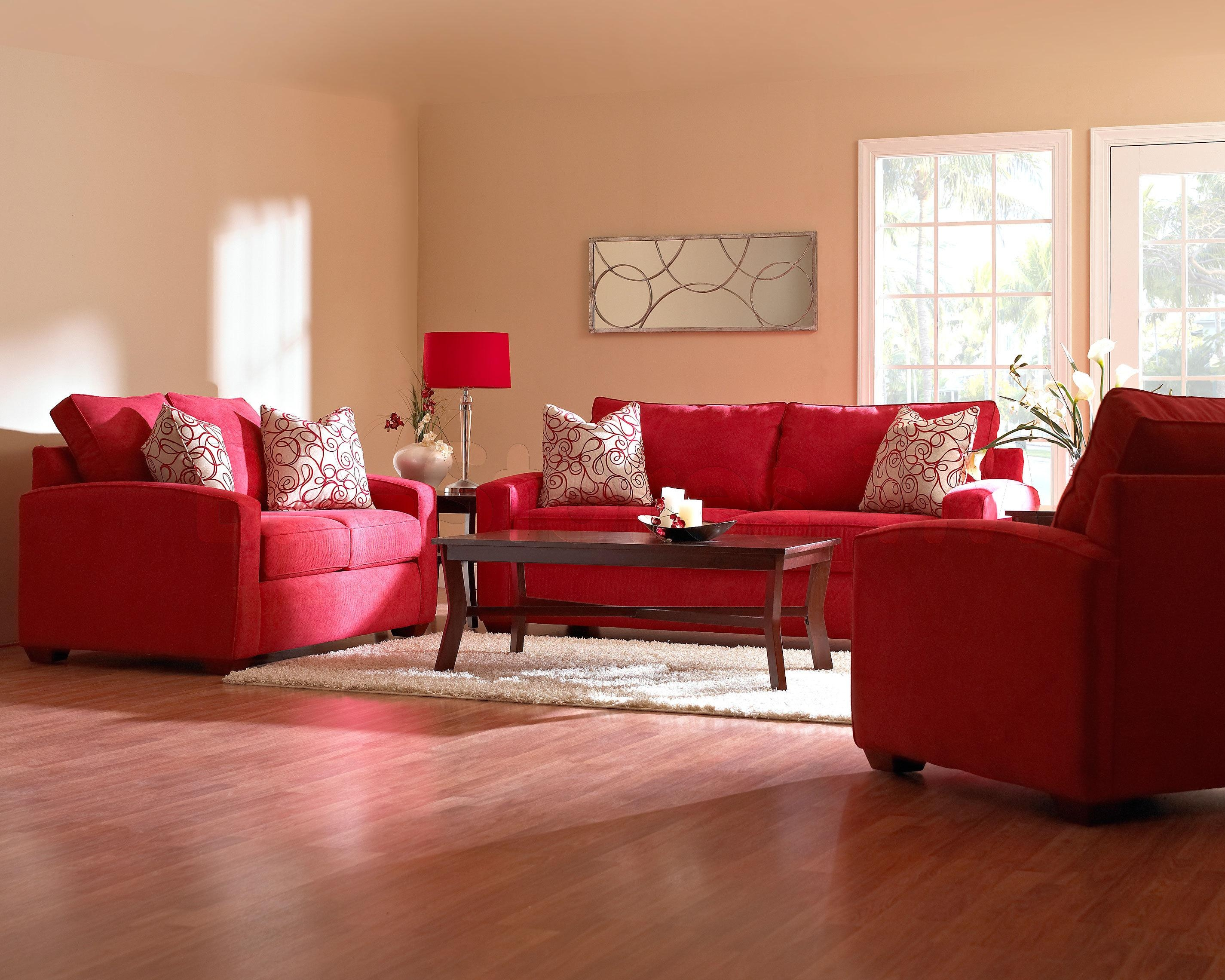 14 Red Sofa Living Room | Carehouse Pertaining To Red Sofas And Chairs (Image 1 of 20)