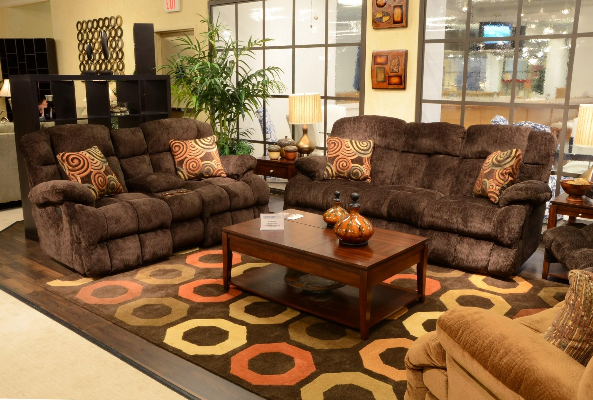 """1421 Catnapper Concord """"lay Flat"""" Reclining Sofa Available In Throughout Catnapper Sofas (Image 1 of 20)"""