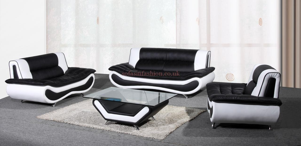 15 Black And White Leather Sofa Set | Carehouse pertaining to Black and White Sofas